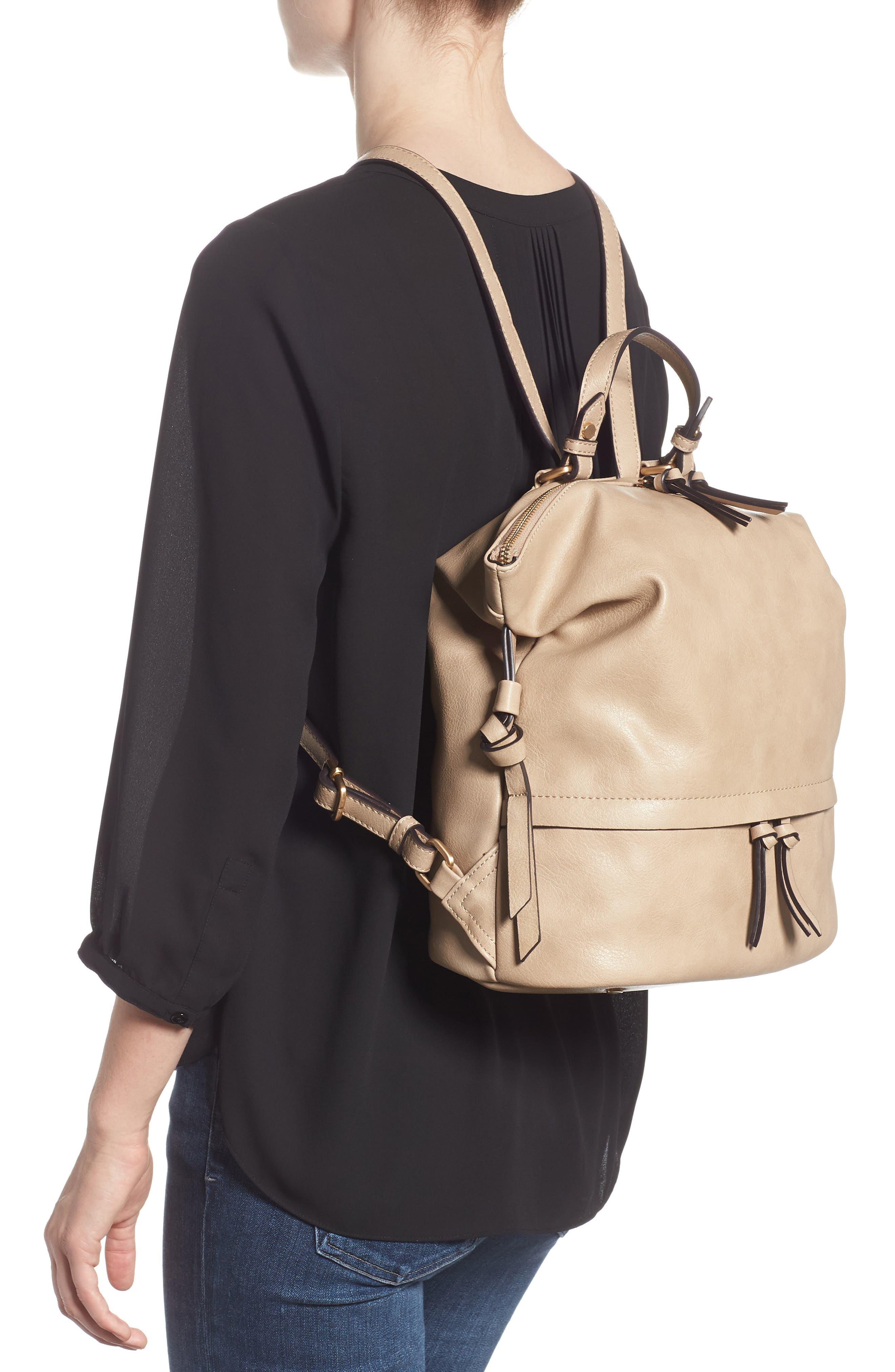 Josah Faux Leather Backpack,                             Alternate thumbnail 2, color,                             SAFARI