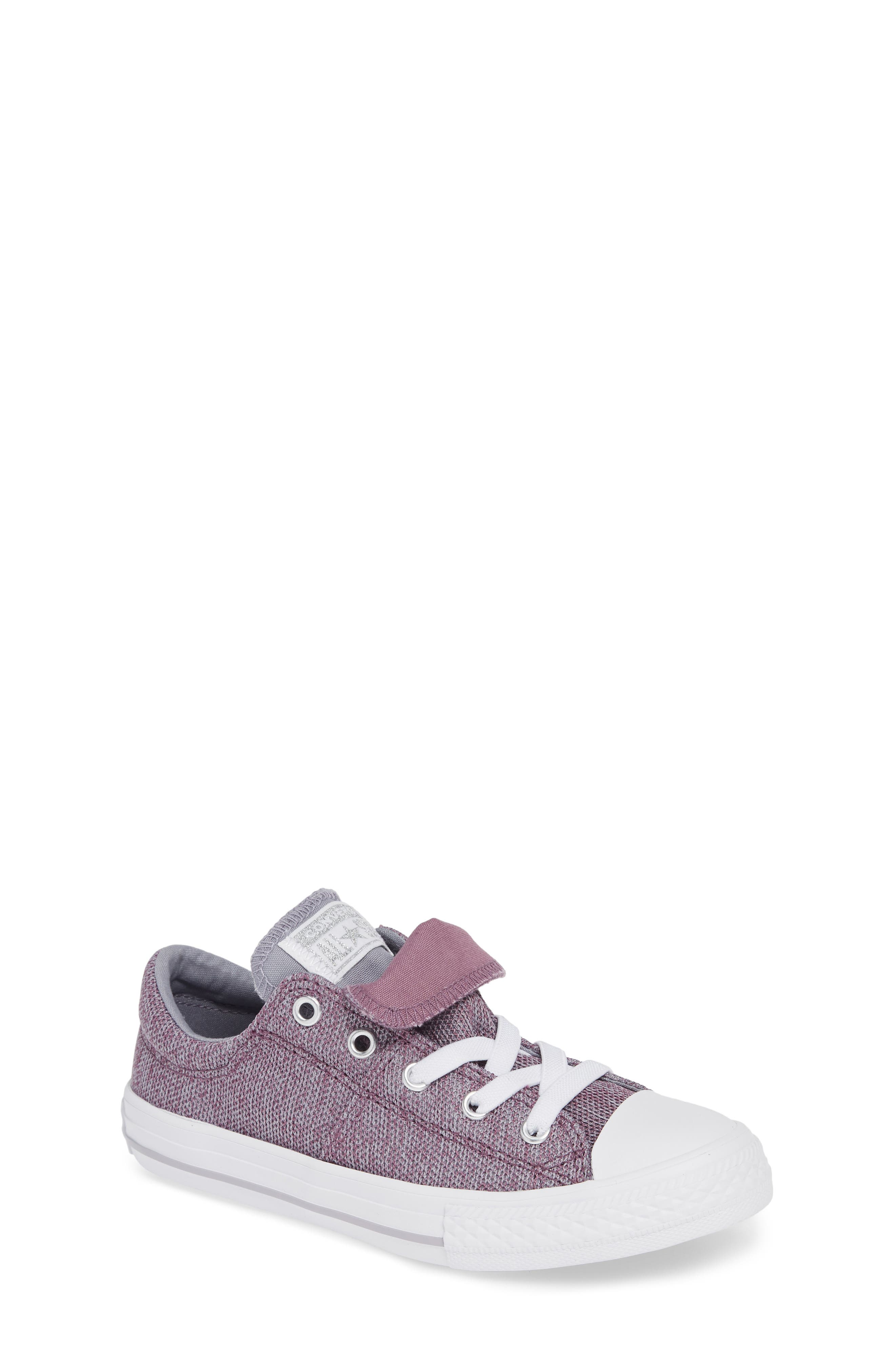 Chuck Taylor<sup>®</sup> All Star<sup>®</sup> Maddie Double Tongue Sneaker,                         Main,                         color, VIOLET DUST