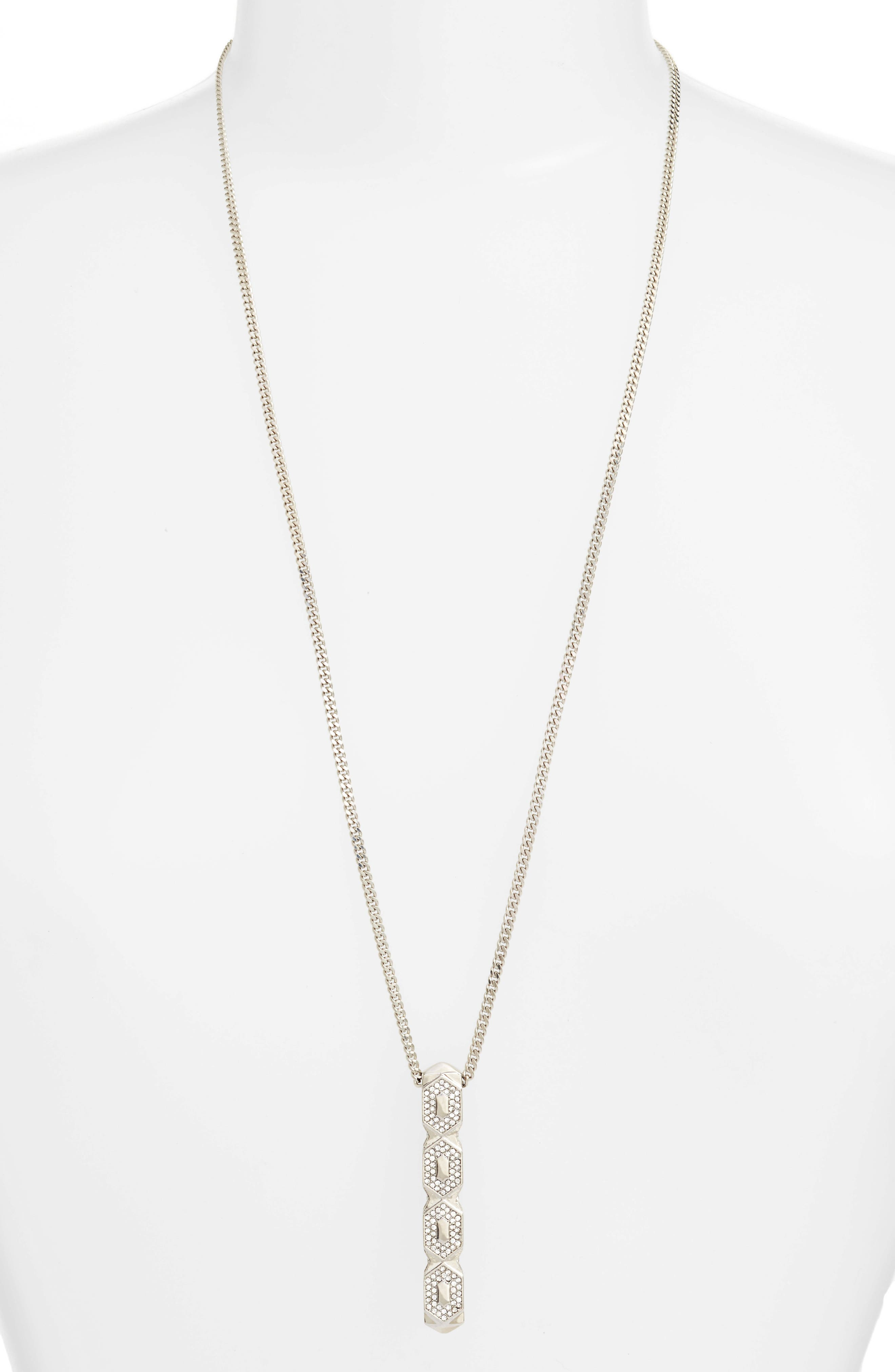 Crystal Pendant Necklace,                         Main,                         color, 041