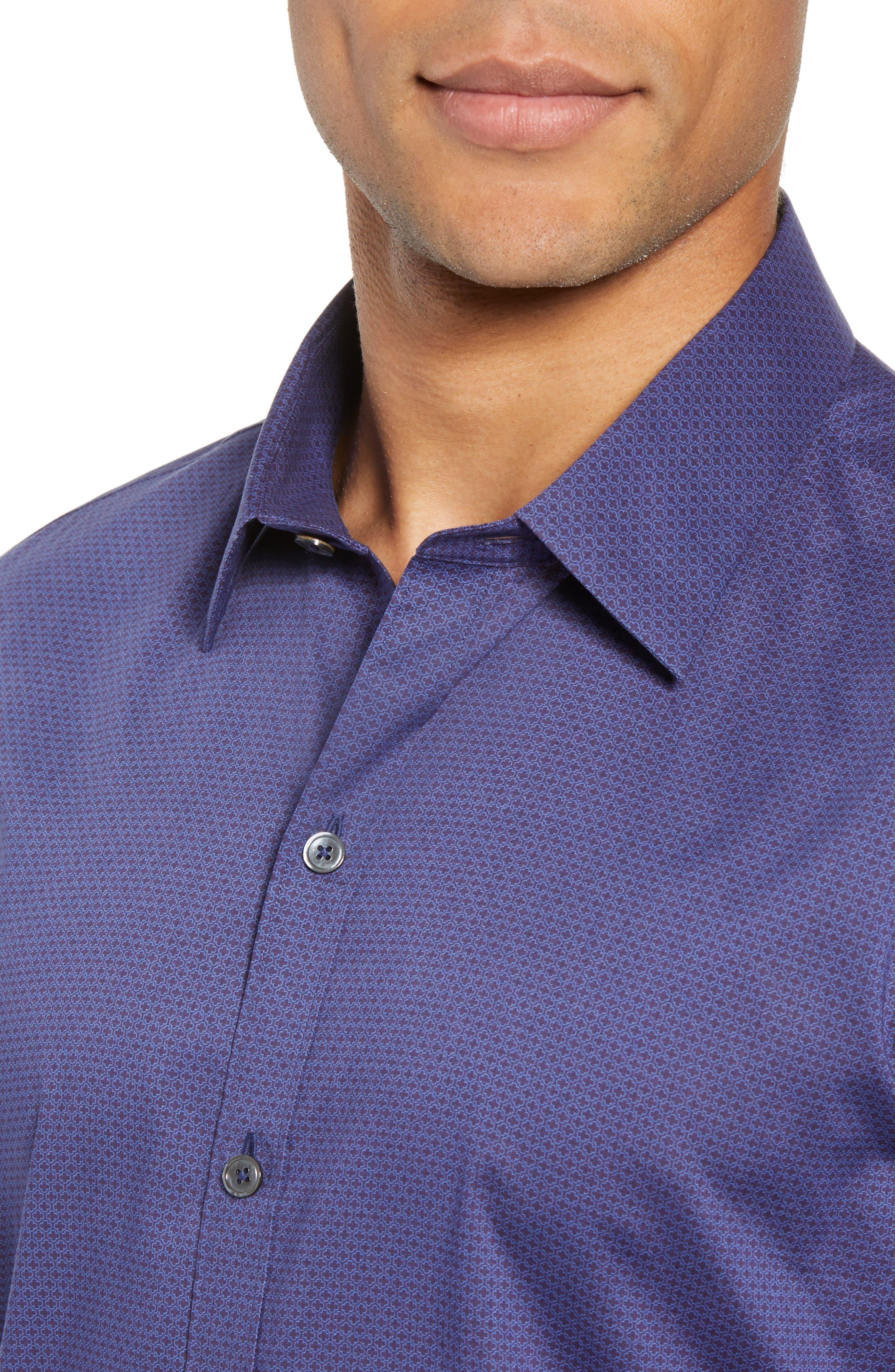 Avellan Regular Fit Sport Shirt,                             Alternate thumbnail 4, color,                             BLUE