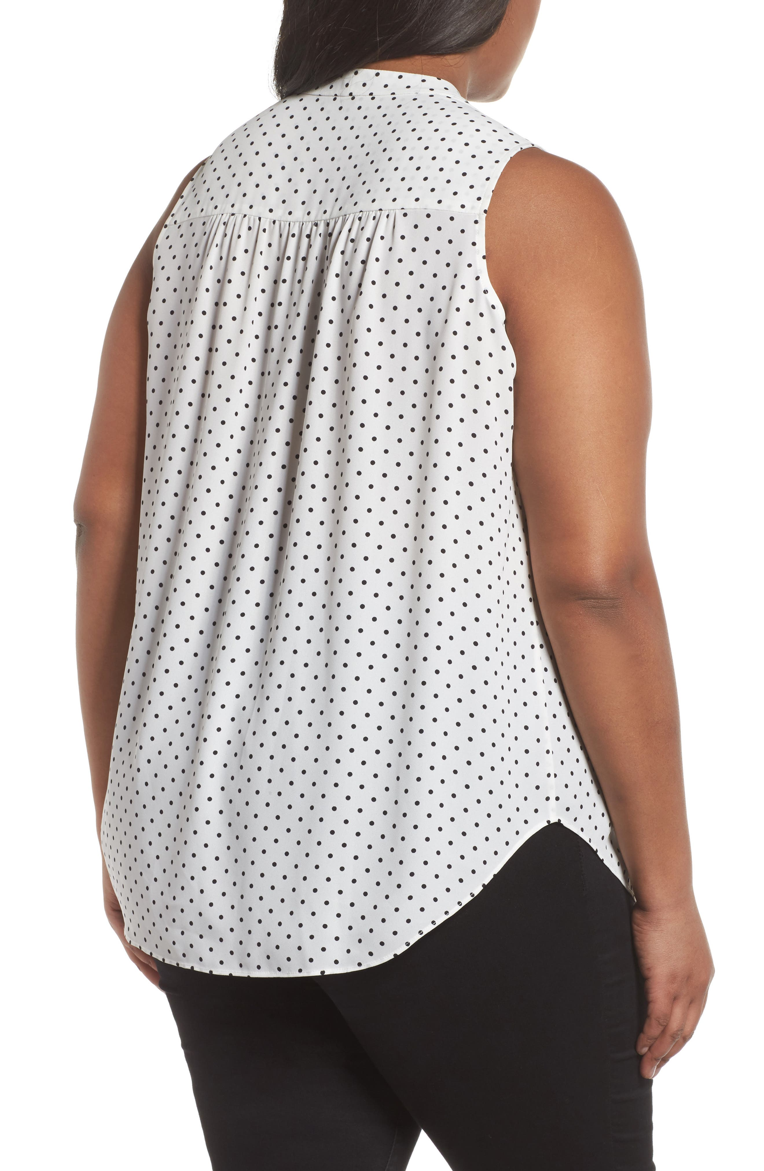 Poetic Dots Sleeveless V-Neck Blouse,                             Alternate thumbnail 2, color,                             903