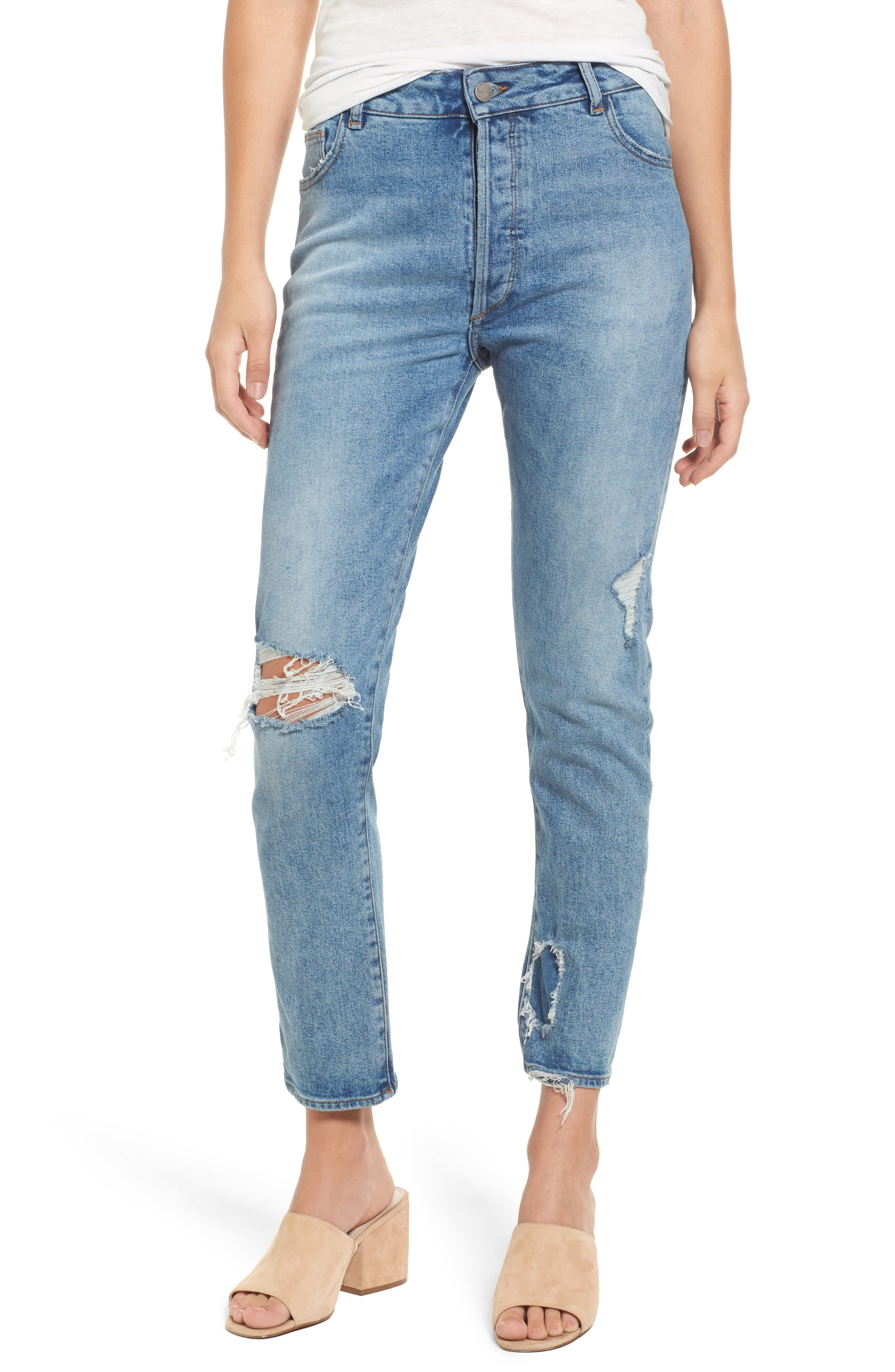 Bella Vintage Ankle Skinny Jeans,                             Main thumbnail 1, color,
