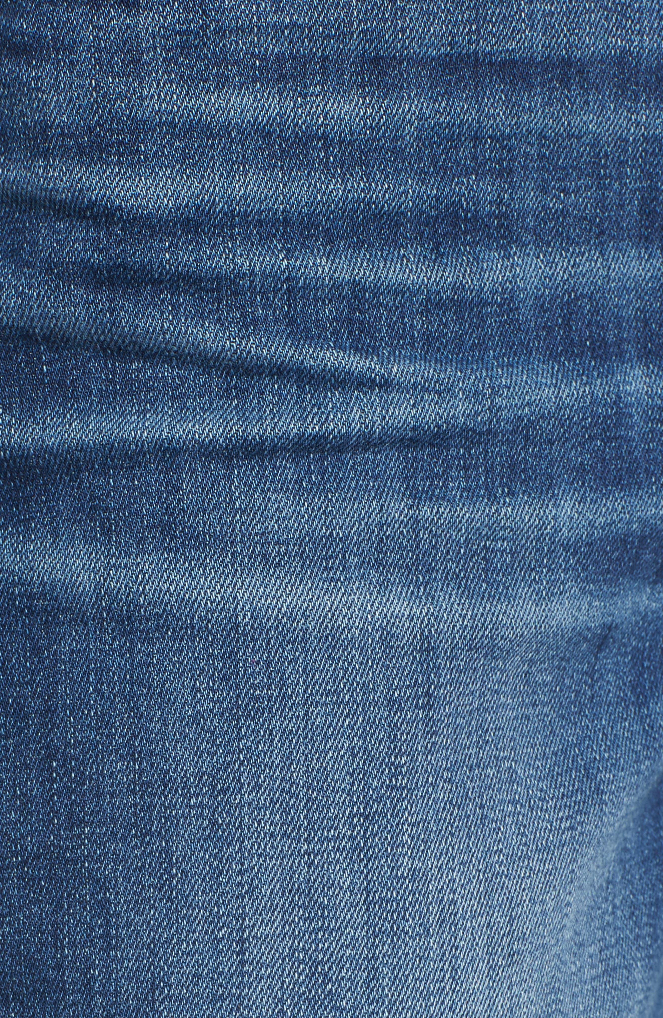 Nellie High Waist Culotte Jeans,                             Alternate thumbnail 6, color,                             400