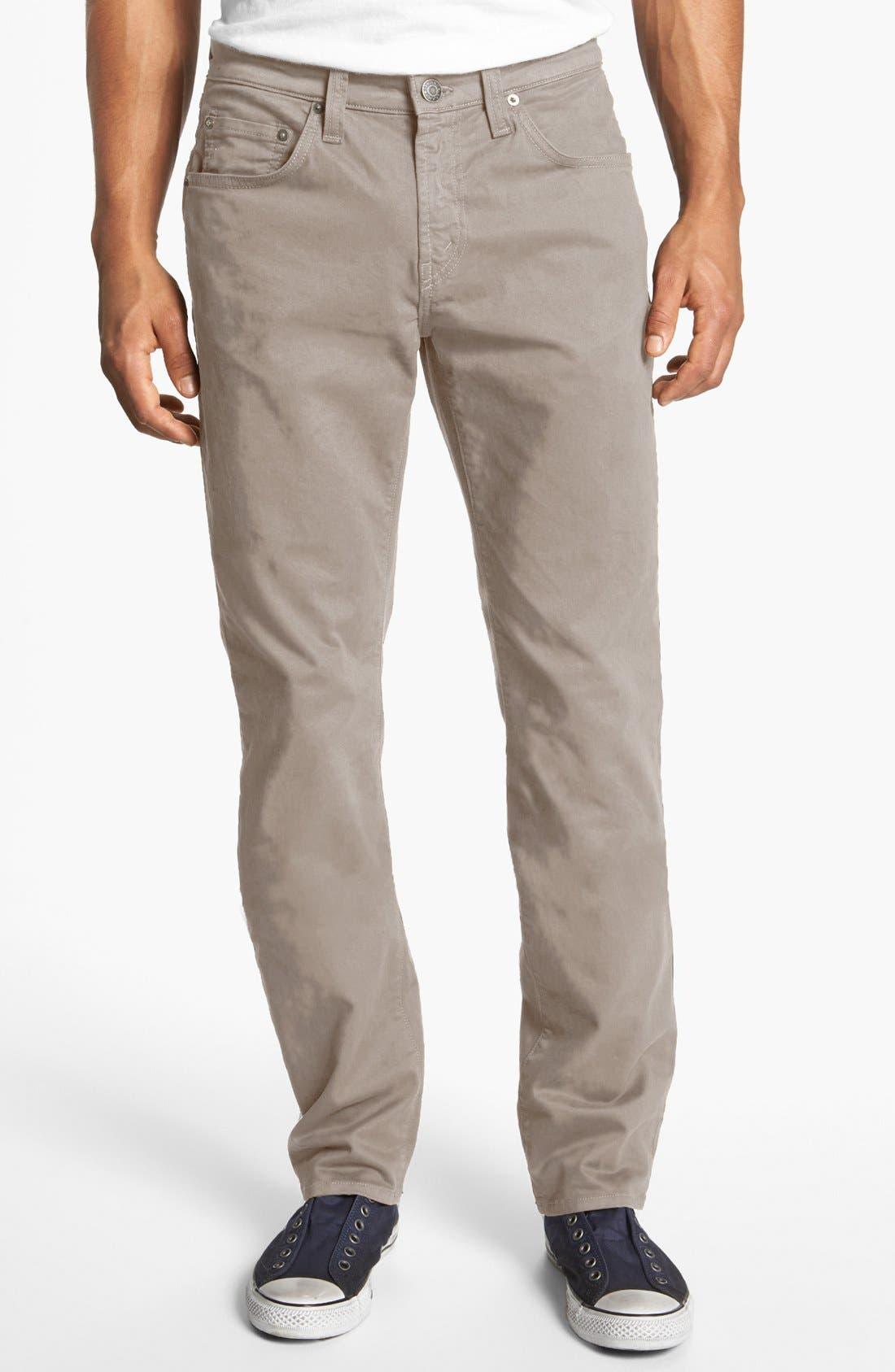 'Kane' Slim Fit Cotton Twill Pants,                             Main thumbnail 11, color,