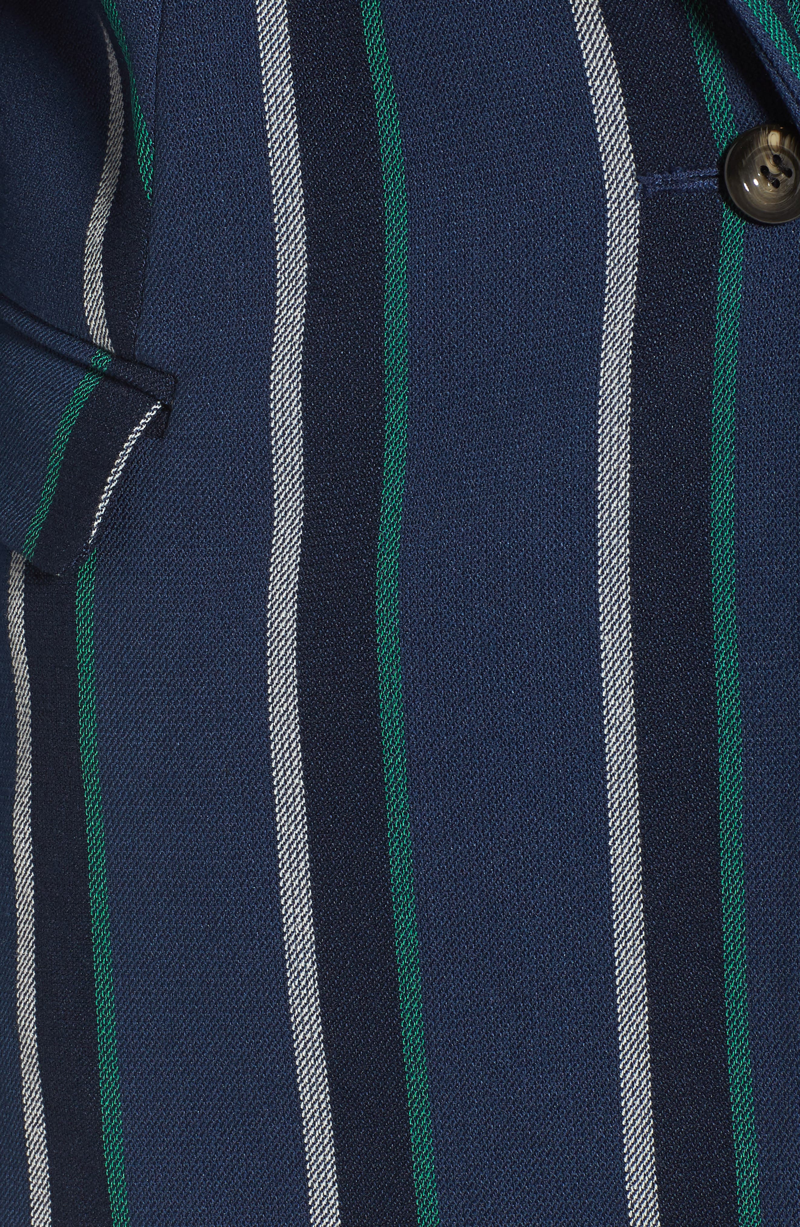Stripe Blazer,                             Alternate thumbnail 7, color,                             NAVY SEAFOAM