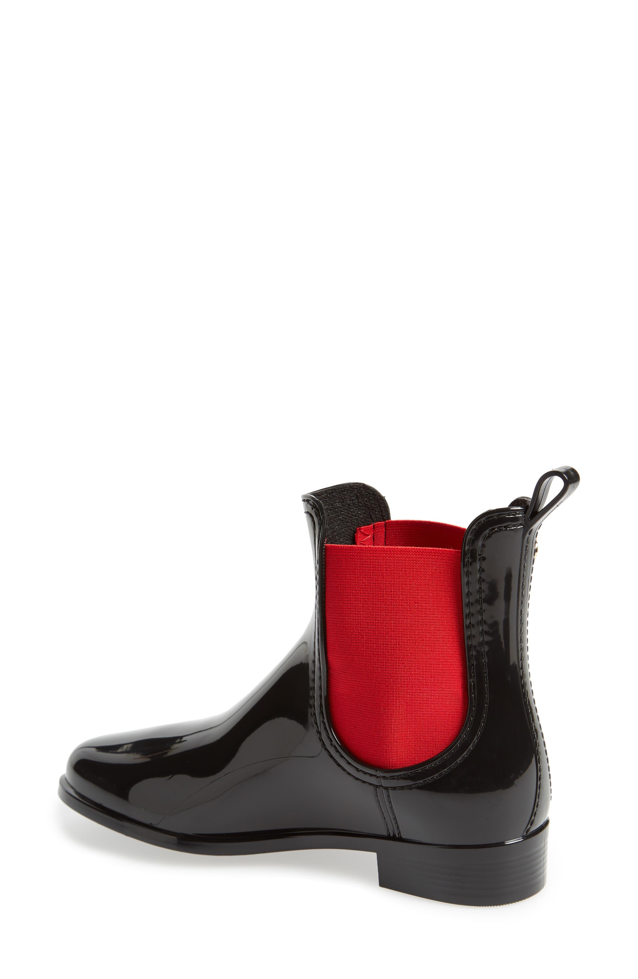 Pisa Waterproof Chelsea Boot,                             Alternate thumbnail 2, color,                             BLACK GLOSS