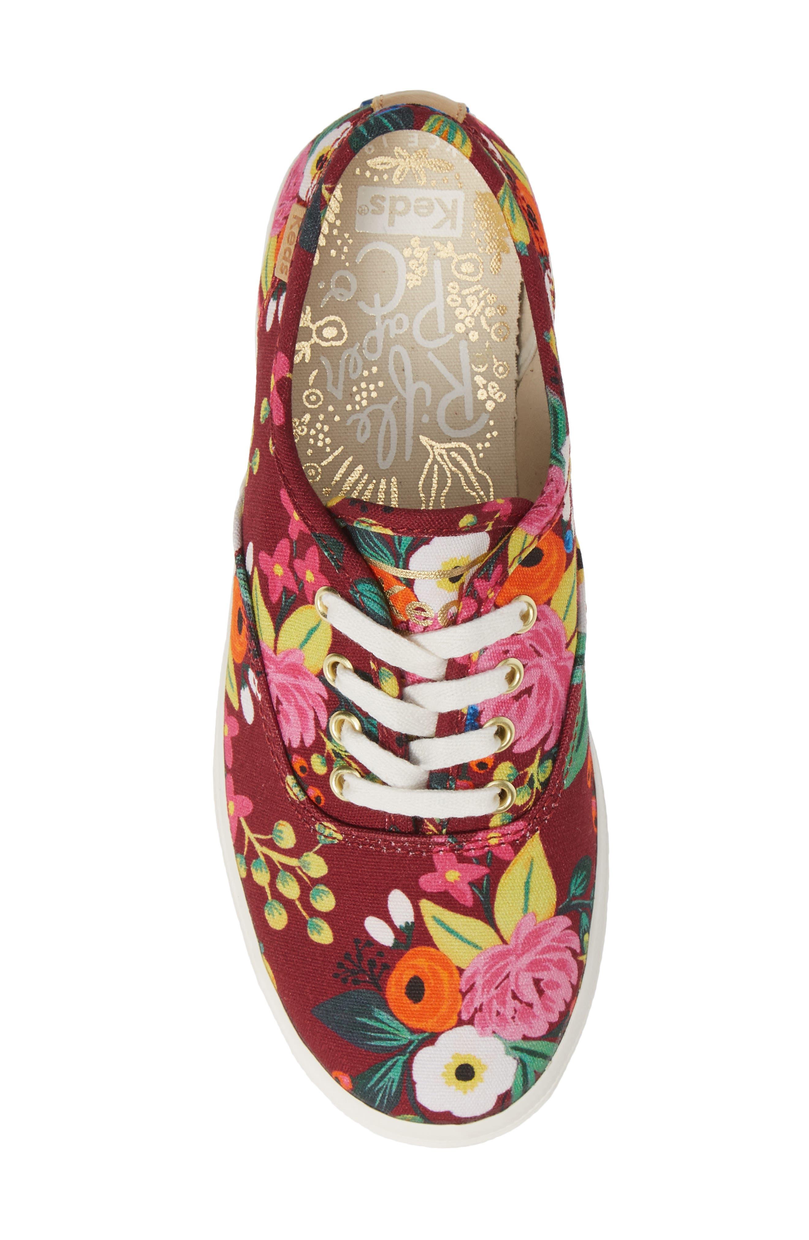 x Rifle Paper Co. Floral Print Champion Sneaker,                             Alternate thumbnail 5, color,                             VINTAGE BLOSSOM