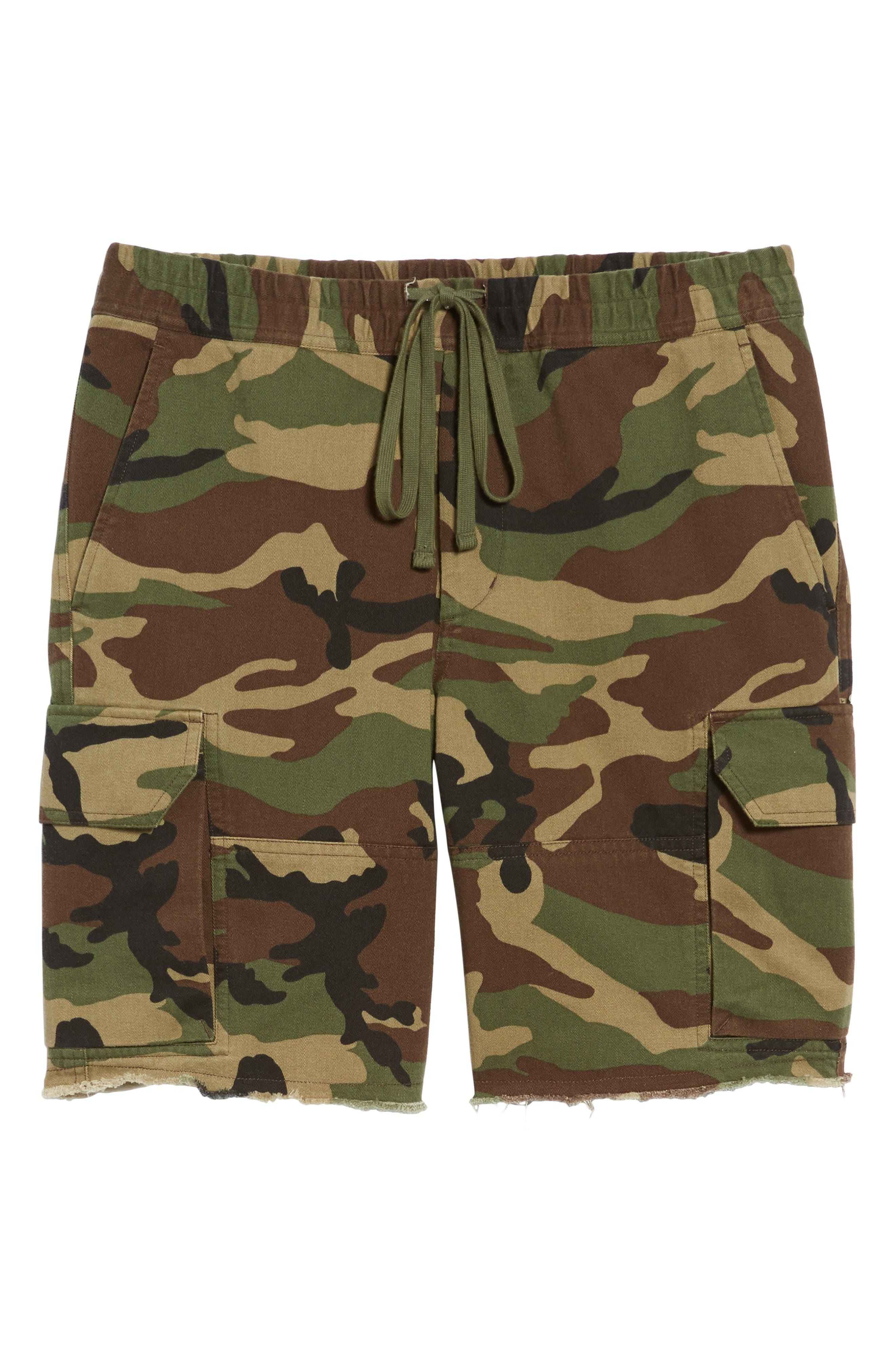 Slim Fit Cargo Shorts,                             Alternate thumbnail 6, color,                             300