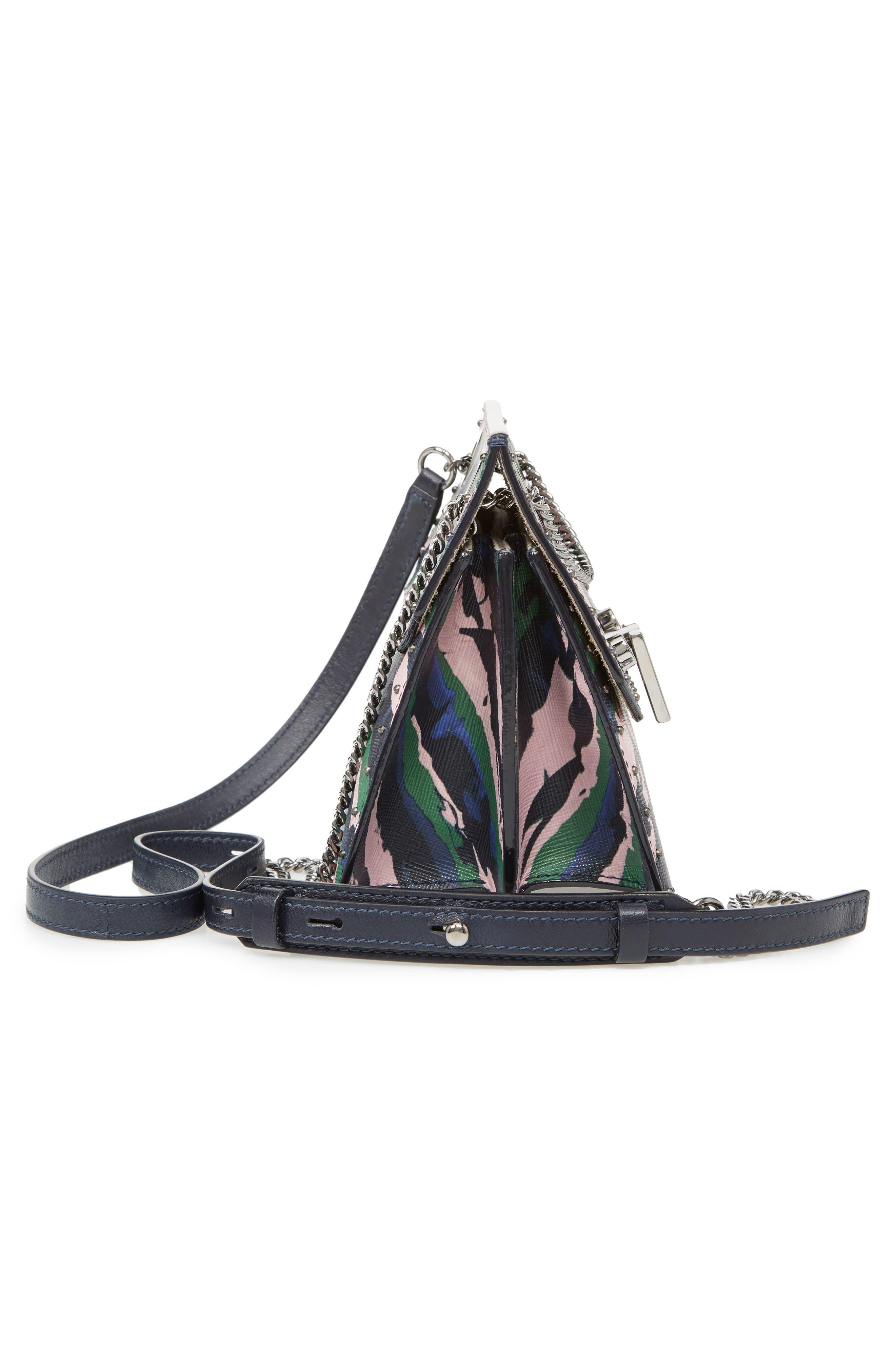 Rebel Leather Crossbody Bag,                             Alternate thumbnail 5, color,                             410