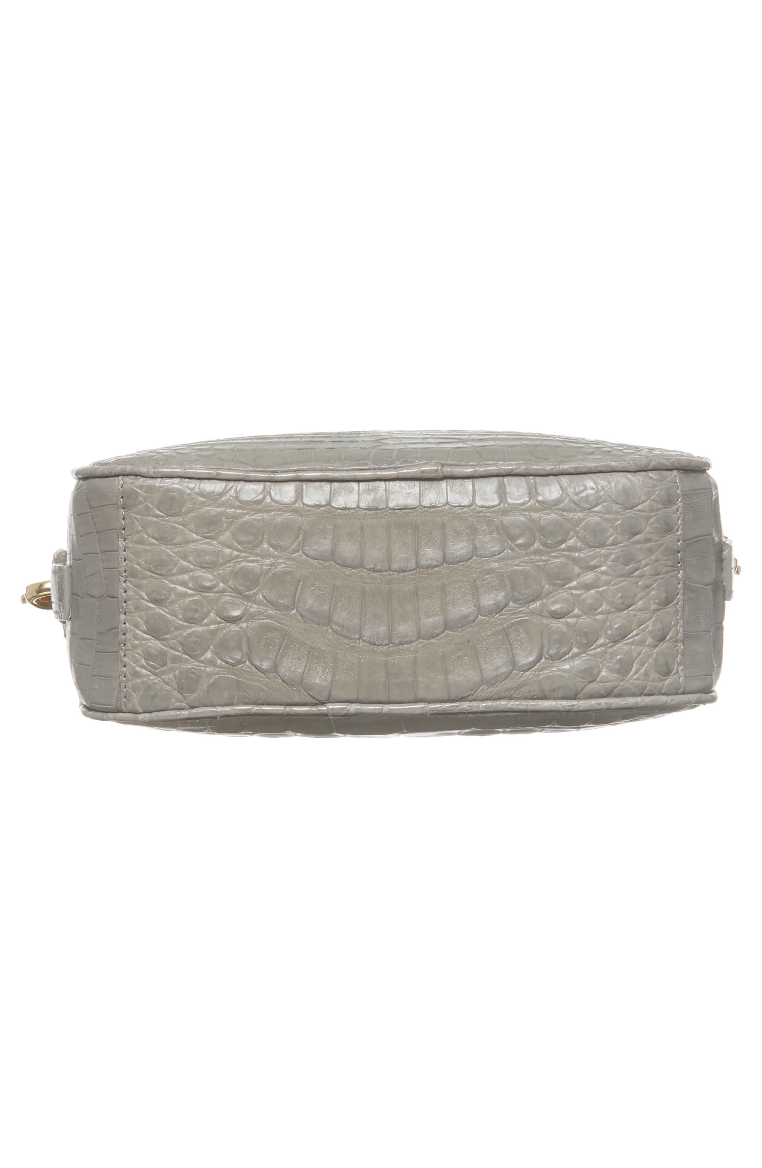 Genuine Crocodile Crossbody Bag,                             Alternate thumbnail 6, color,                             020
