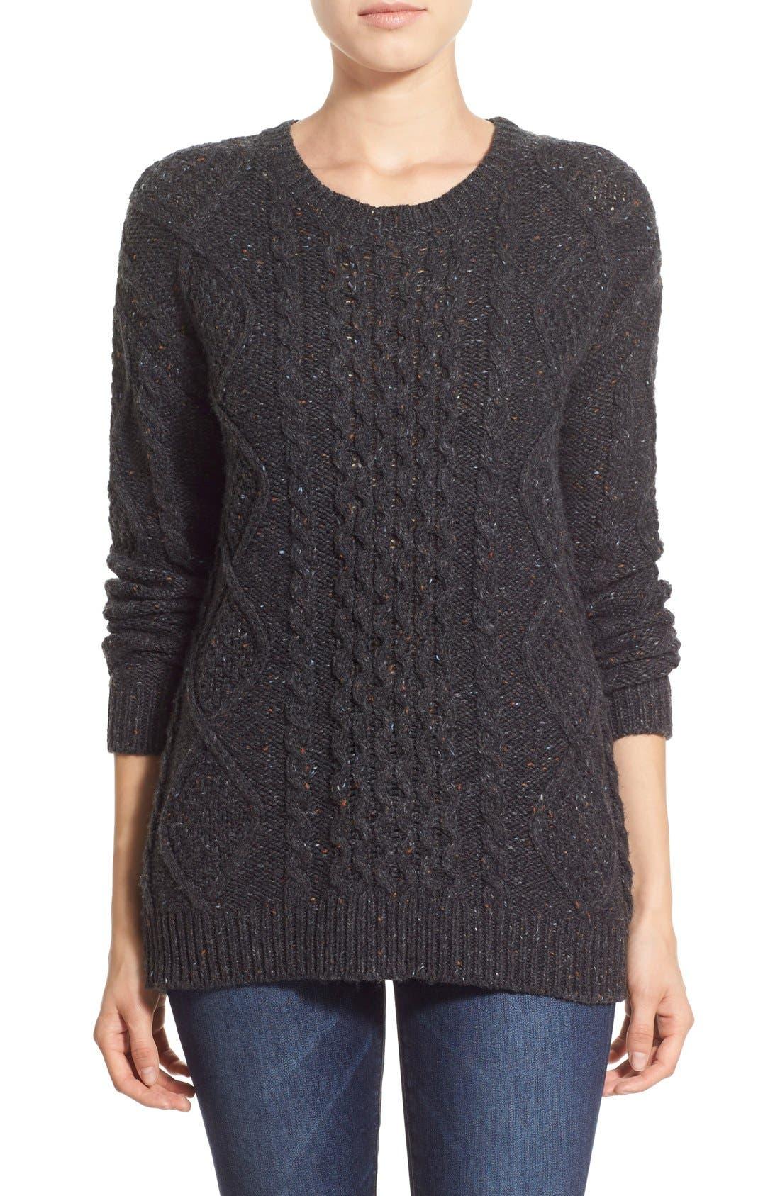Treasure&Bond Cable Knit Sweater,                         Main,                         color, 020