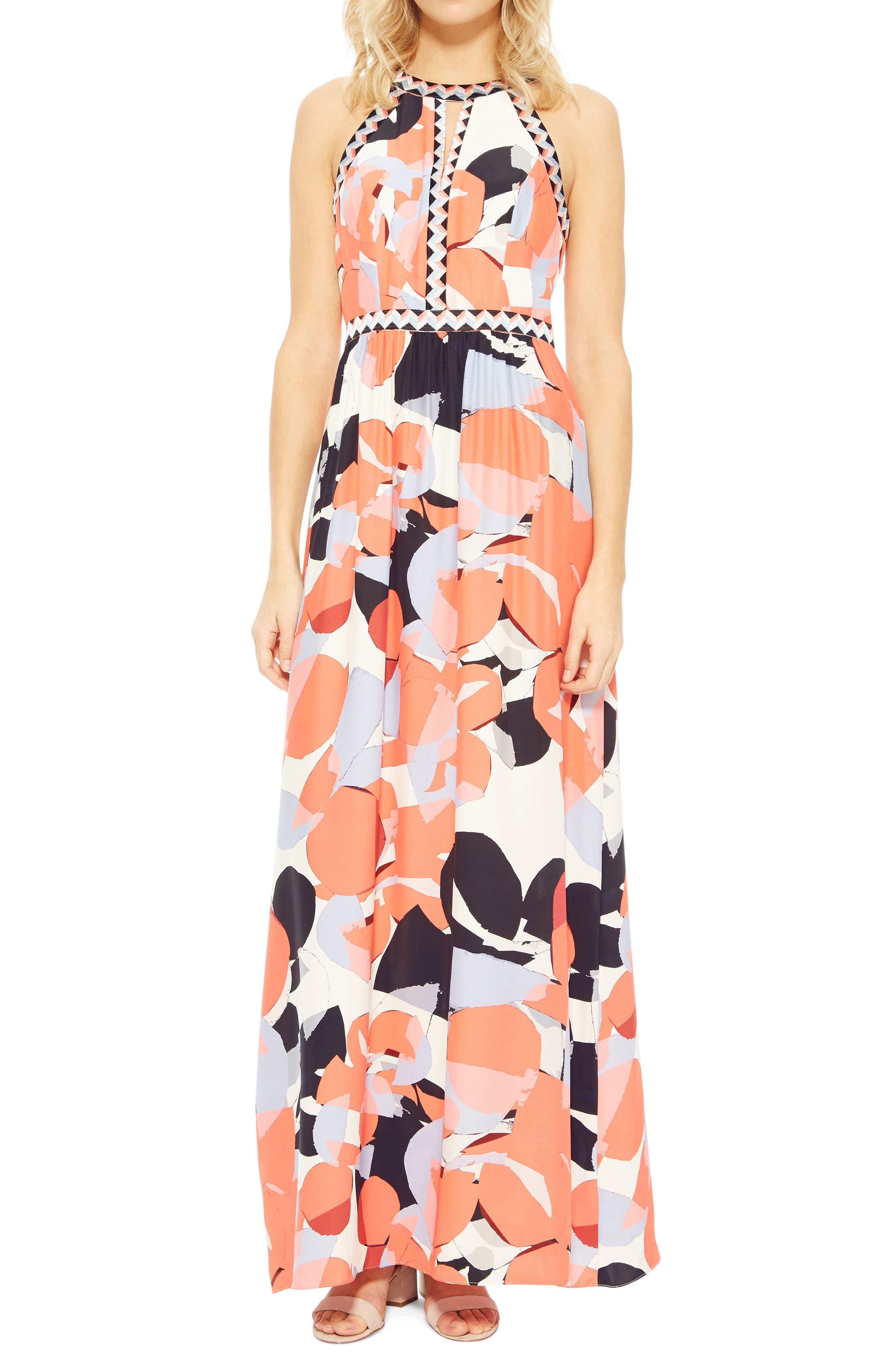 Luella Silk Maxi Dress,                             Main thumbnail 1, color,                             950