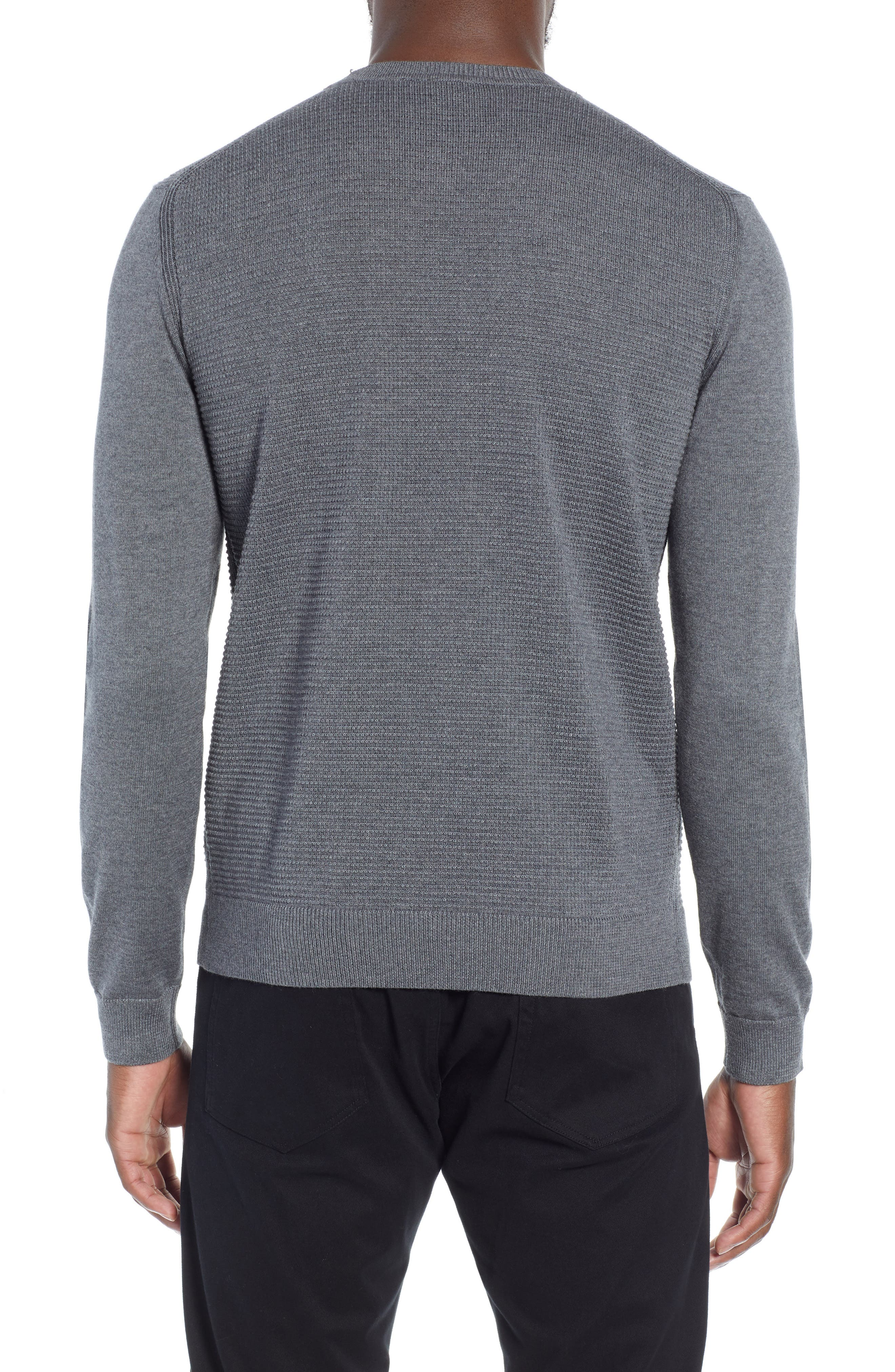 BOSS,                             Ellegri Regular Fit Wool Pullover,                             Alternate thumbnail 2, color,                             030