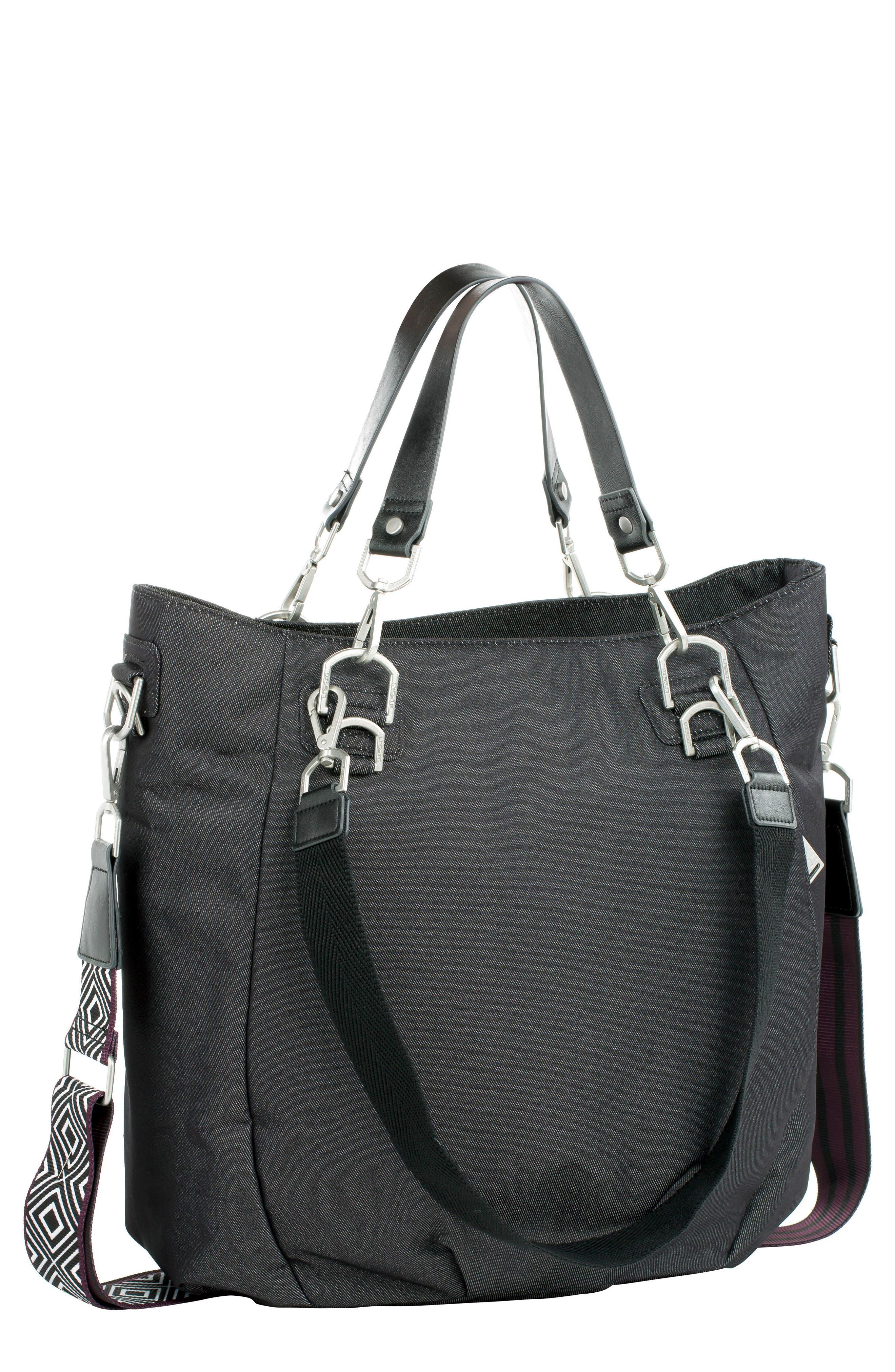 Mix 'N Match Denim Diaper Bag,                             Main thumbnail 1, color,                             BLACK