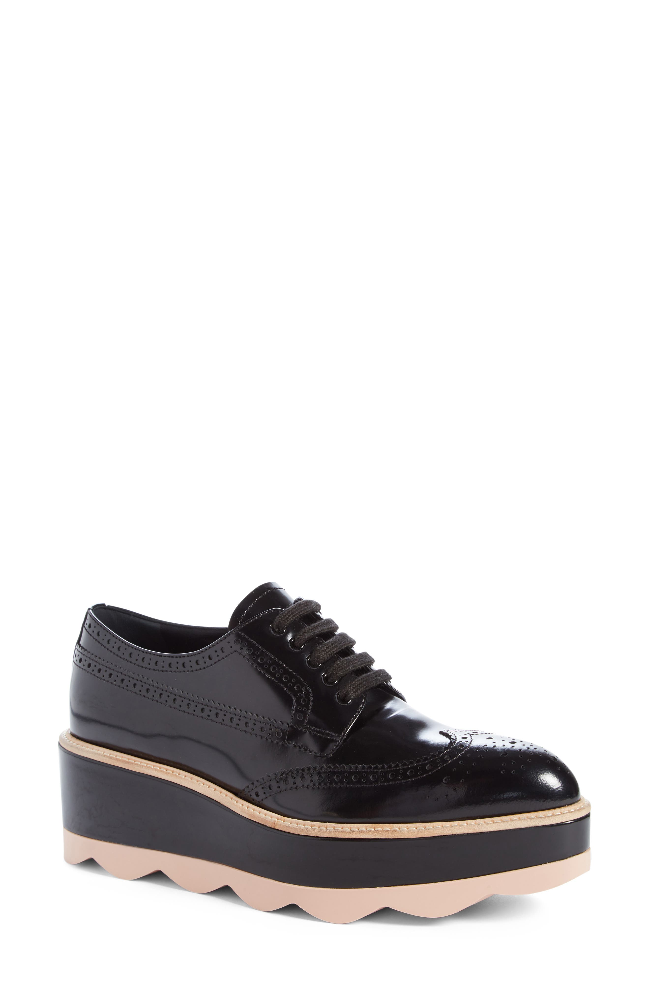 Scalloped Platform Oxford,                         Main,                         color,