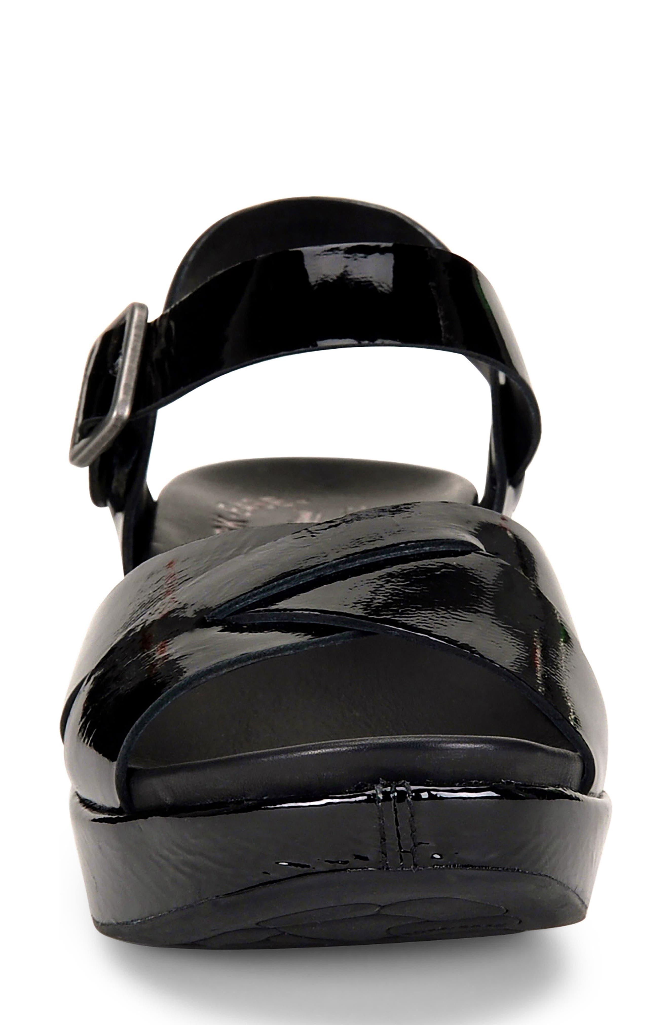 'Myrna 2.0' Cork Wedge Sandal,                             Alternate thumbnail 4, color,                             002