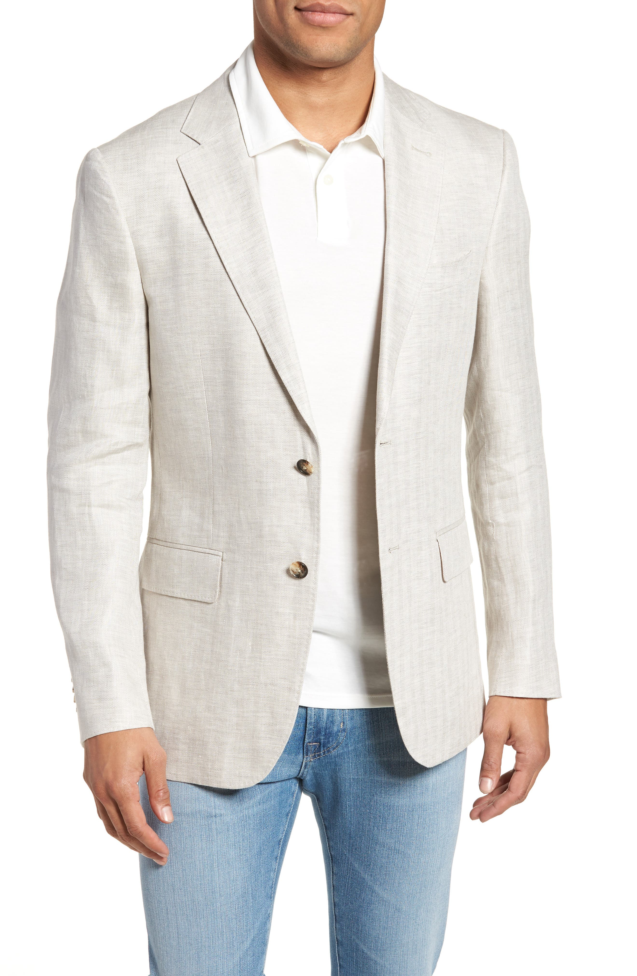 Benson Road Linen Sport Coat,                             Main thumbnail 1, color,                             NATURAL