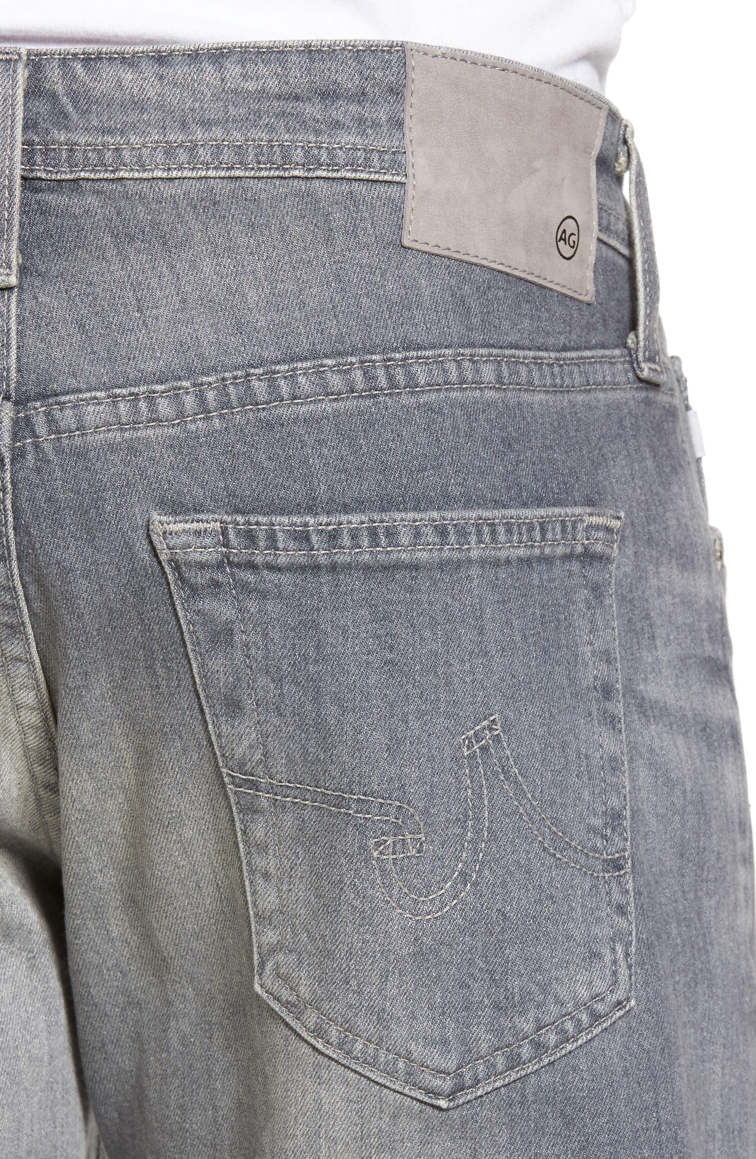 Graduate Slim Straight Fit Jeans,                             Alternate thumbnail 4, color,                             020