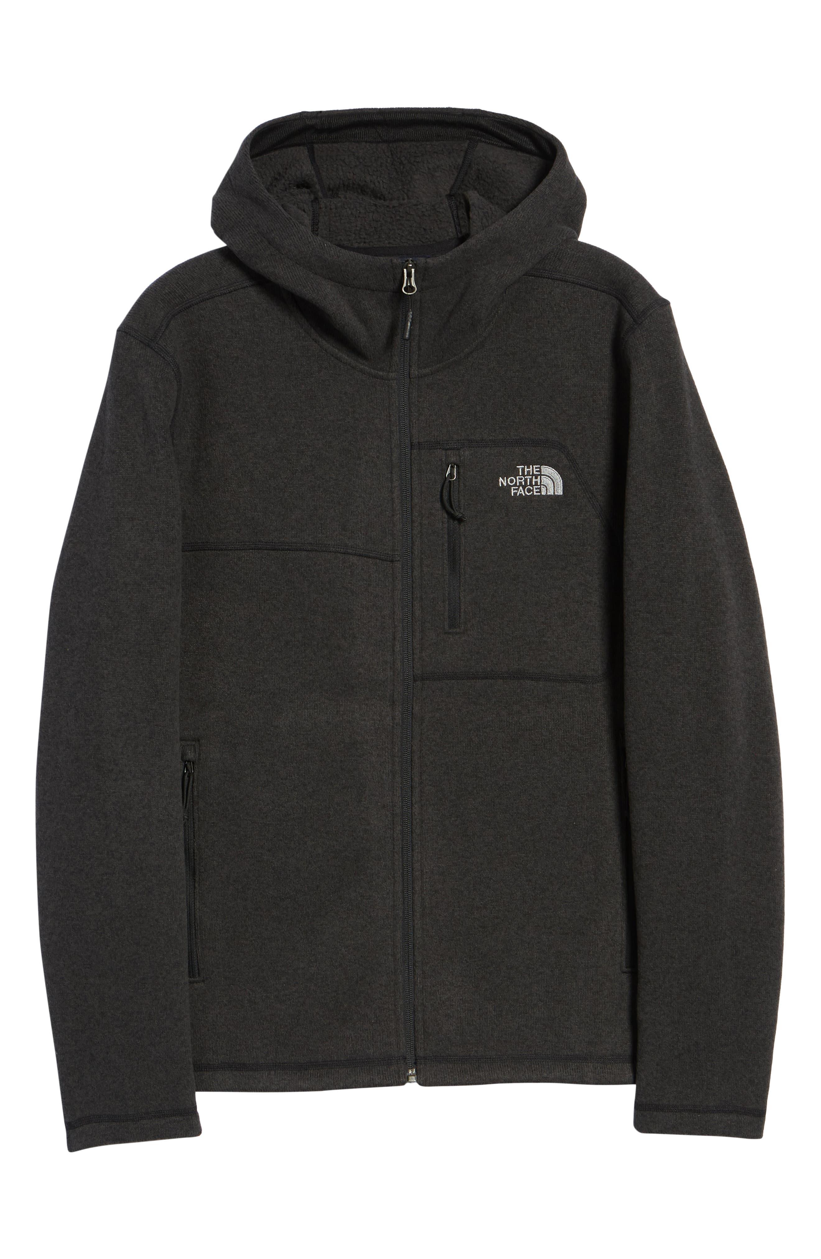 Gordon Lyons Relaxed Fit Sweater Fleece Hoodie,                             Alternate thumbnail 7, color,                             TNF BLACK HEATHER