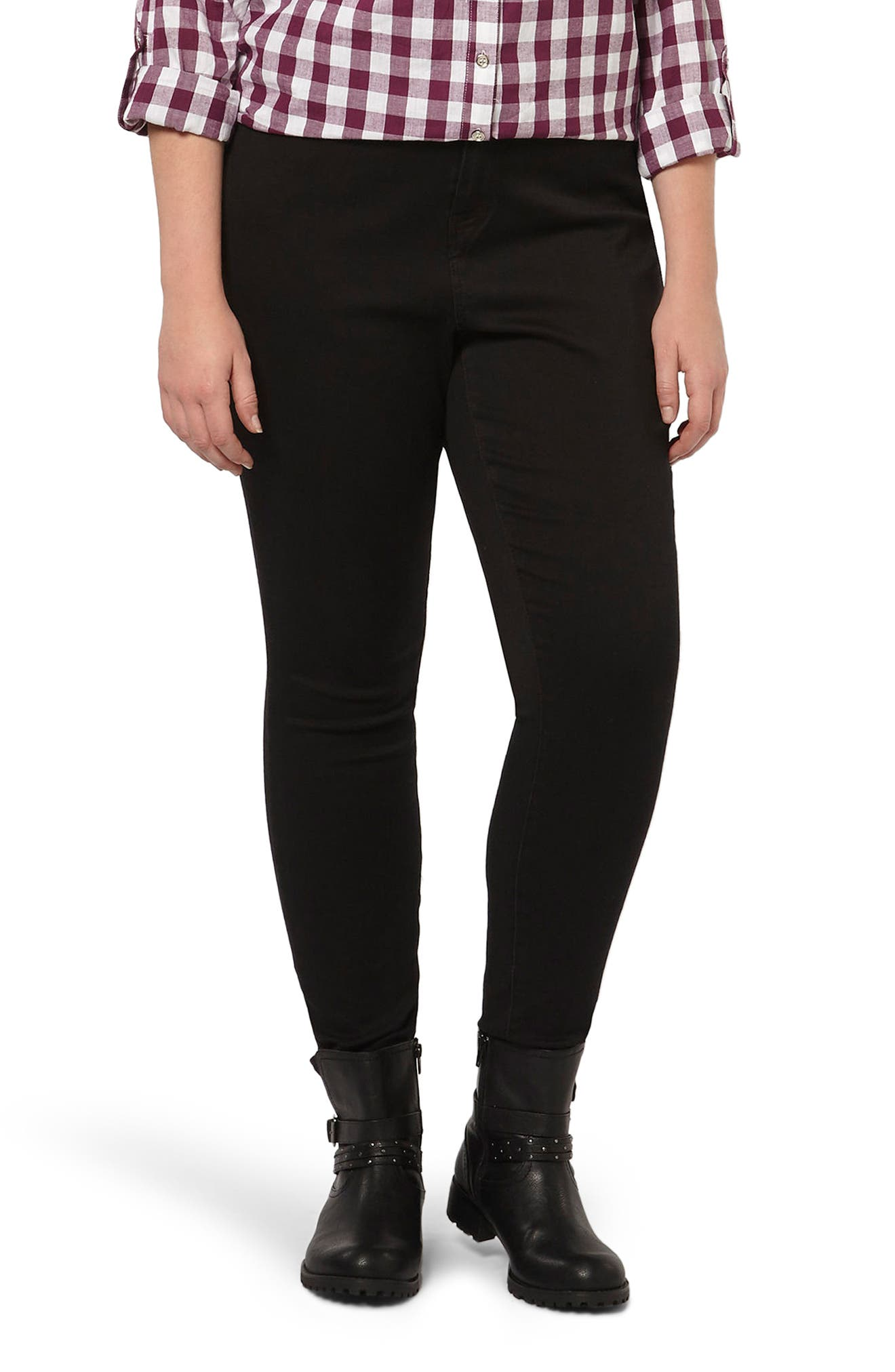 Skinny Stretch Jeans, Main, color, 001