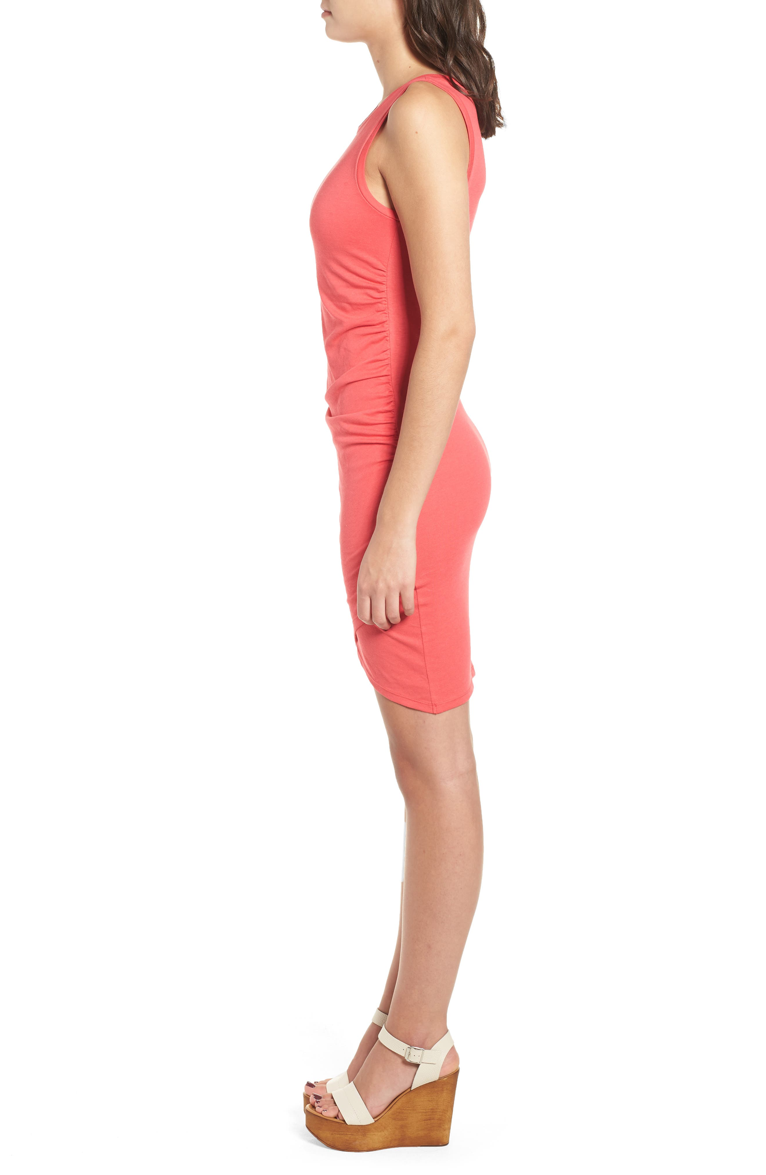 Ruched Body-Con Tank Dress,                             Alternate thumbnail 86, color,