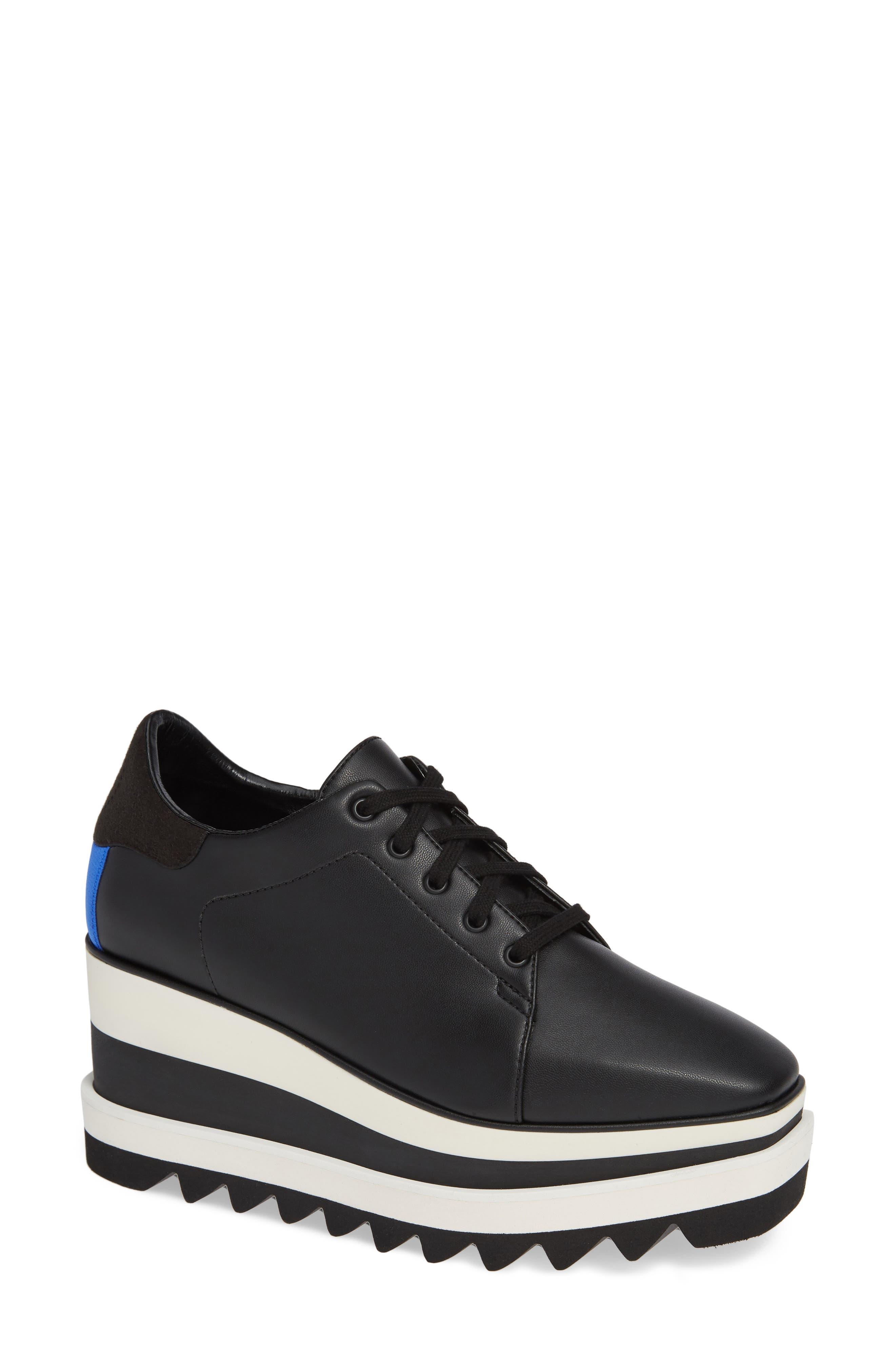 Sneak-Elyse Flatform Sneaker,                         Main,                         color, BLACK