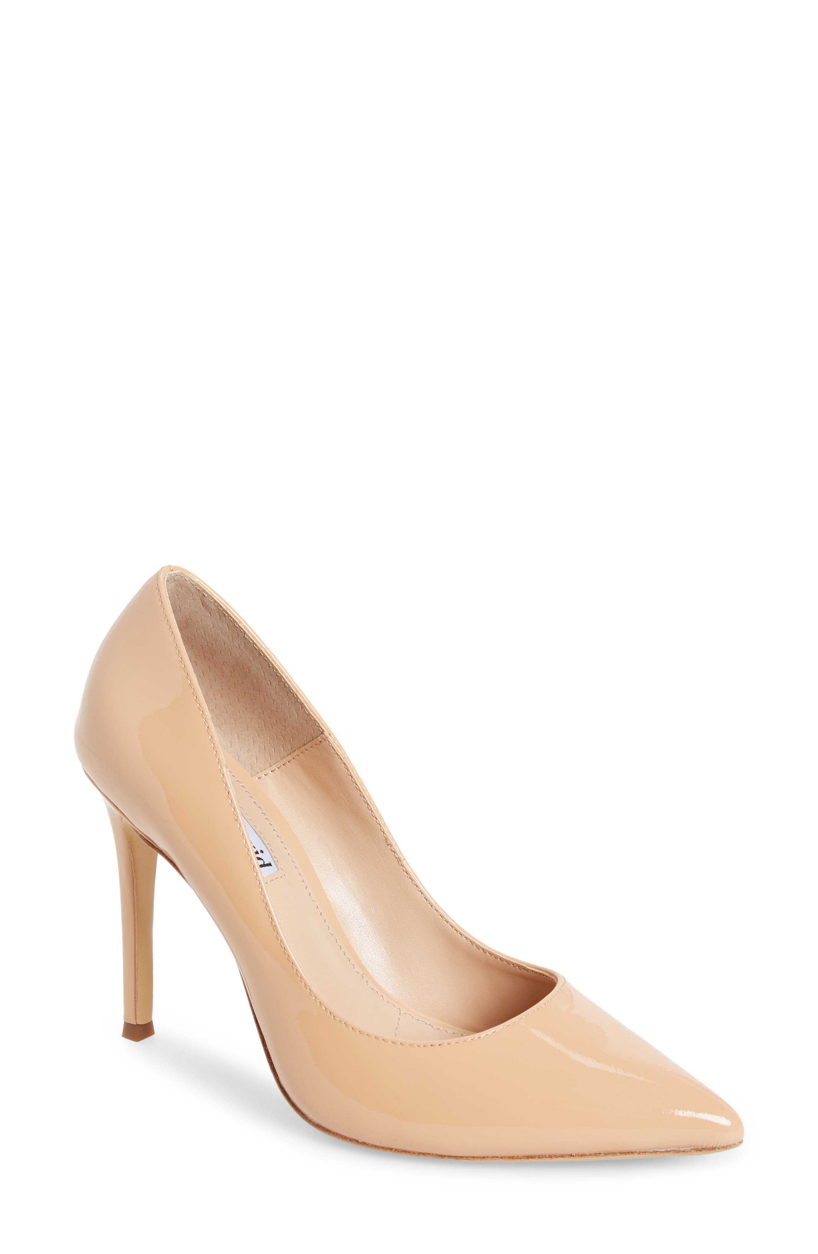 Calessi Pointy Toe Pump,                             Main thumbnail 1, color,                             PETAL PATENT LEATHER