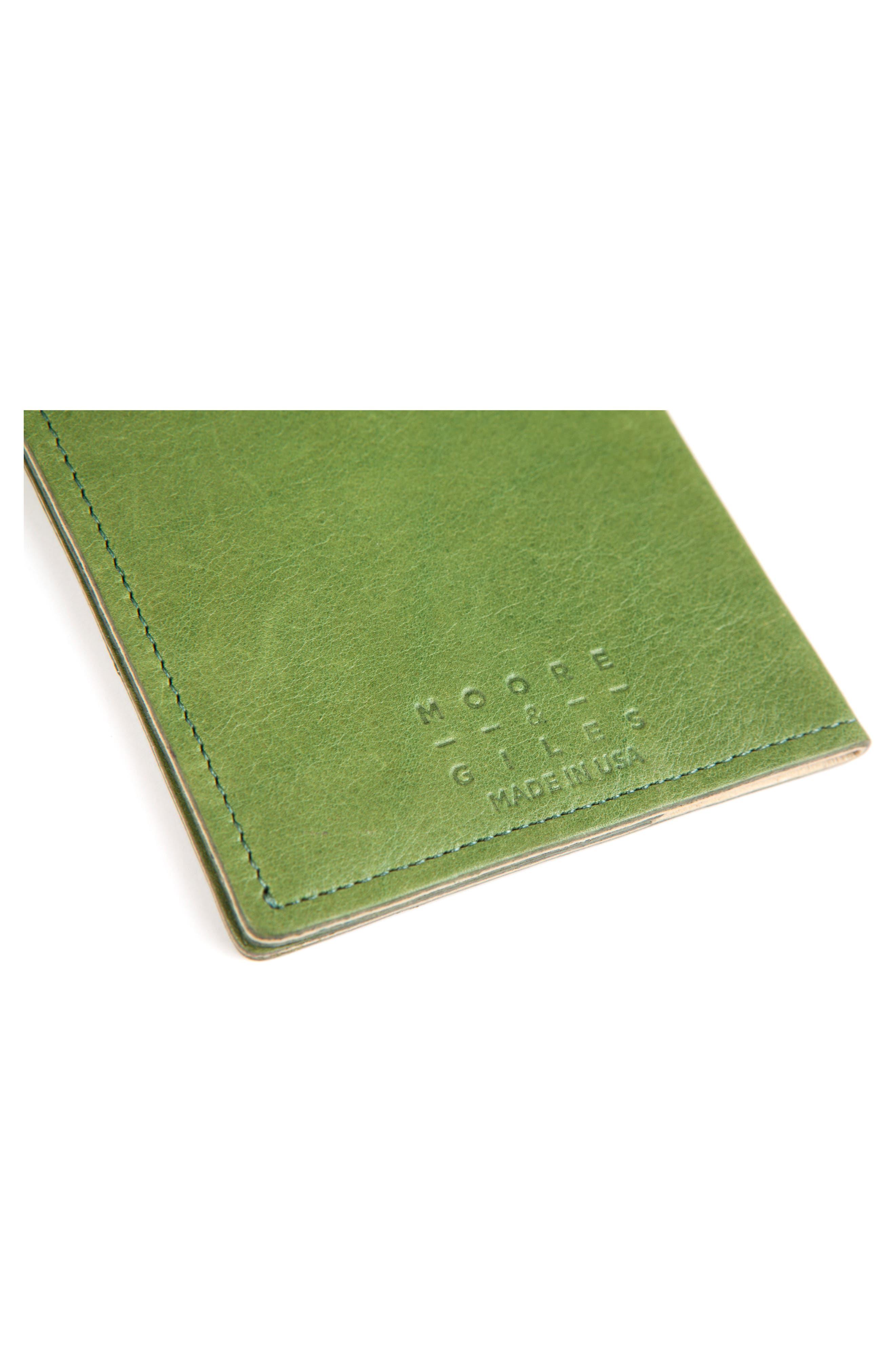 Leather Passport Case,                             Alternate thumbnail 4, color,                             SOUR APPLE