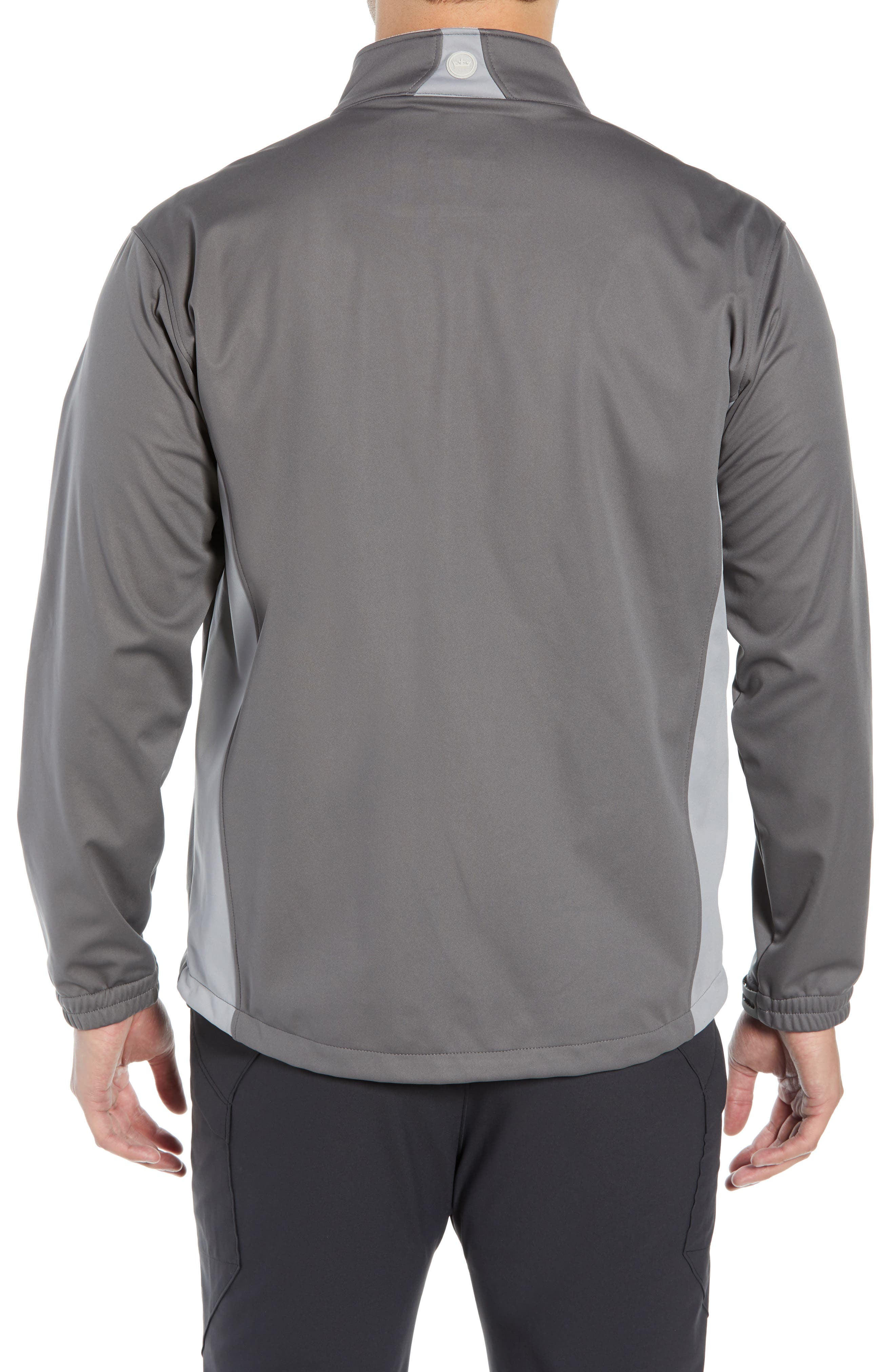 PETER MILLAR,                             Gale Force Stretch Soft Shell Jacket,                             Alternate thumbnail 2, color,                             SMOKE