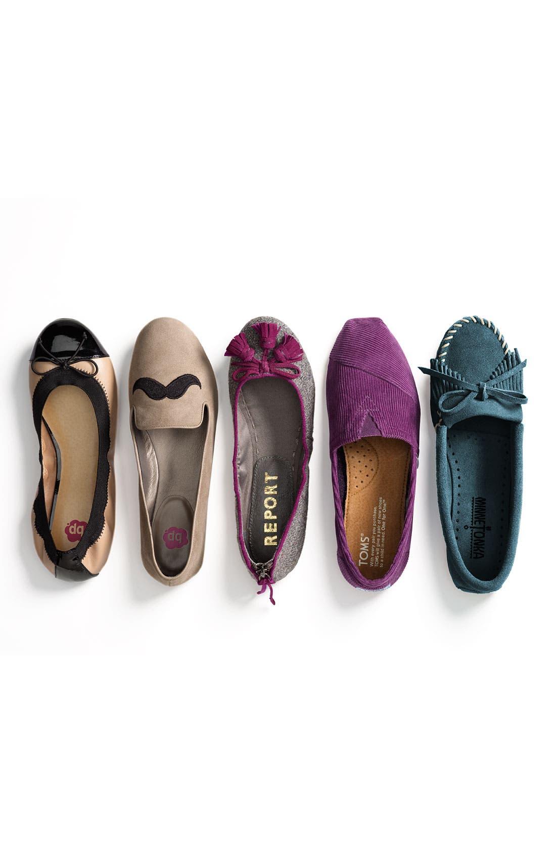 'Mindy' Ballet Flat,                             Main thumbnail 1, color,                             060