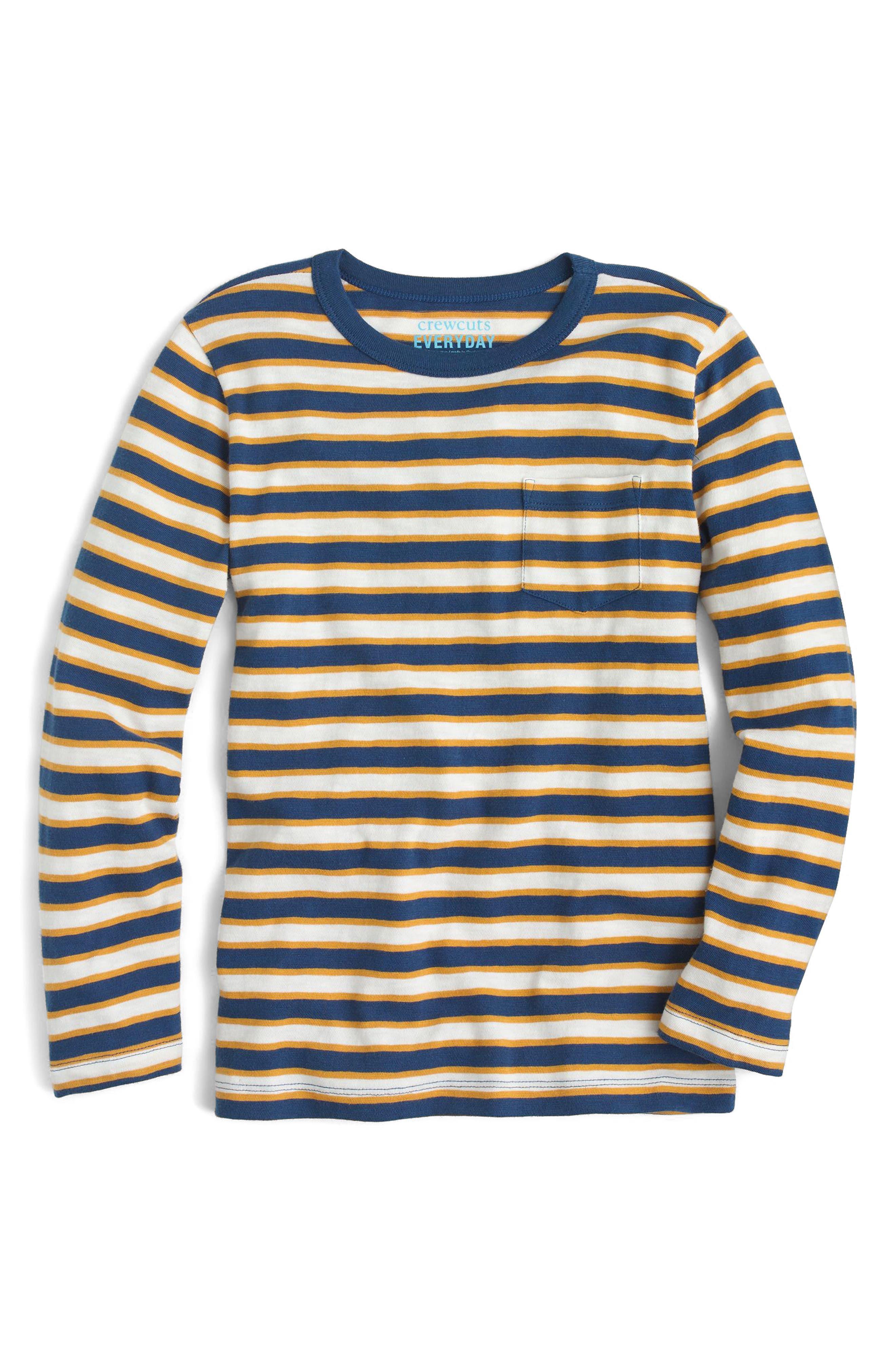 Stripe Long Sleeve T-Shirt,                             Main thumbnail 1, color,