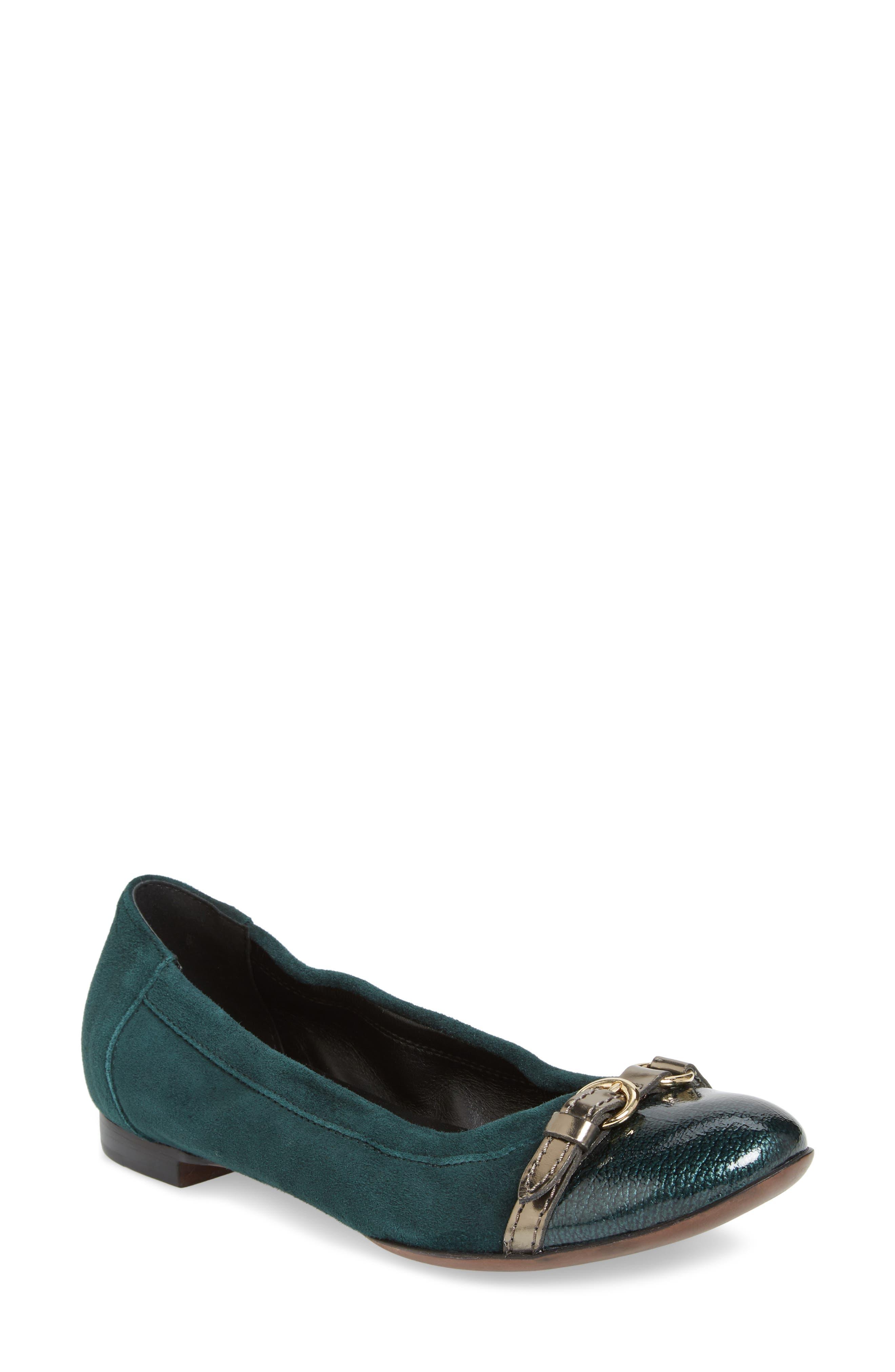 Agl Cap Toe Ballet Flat, Green