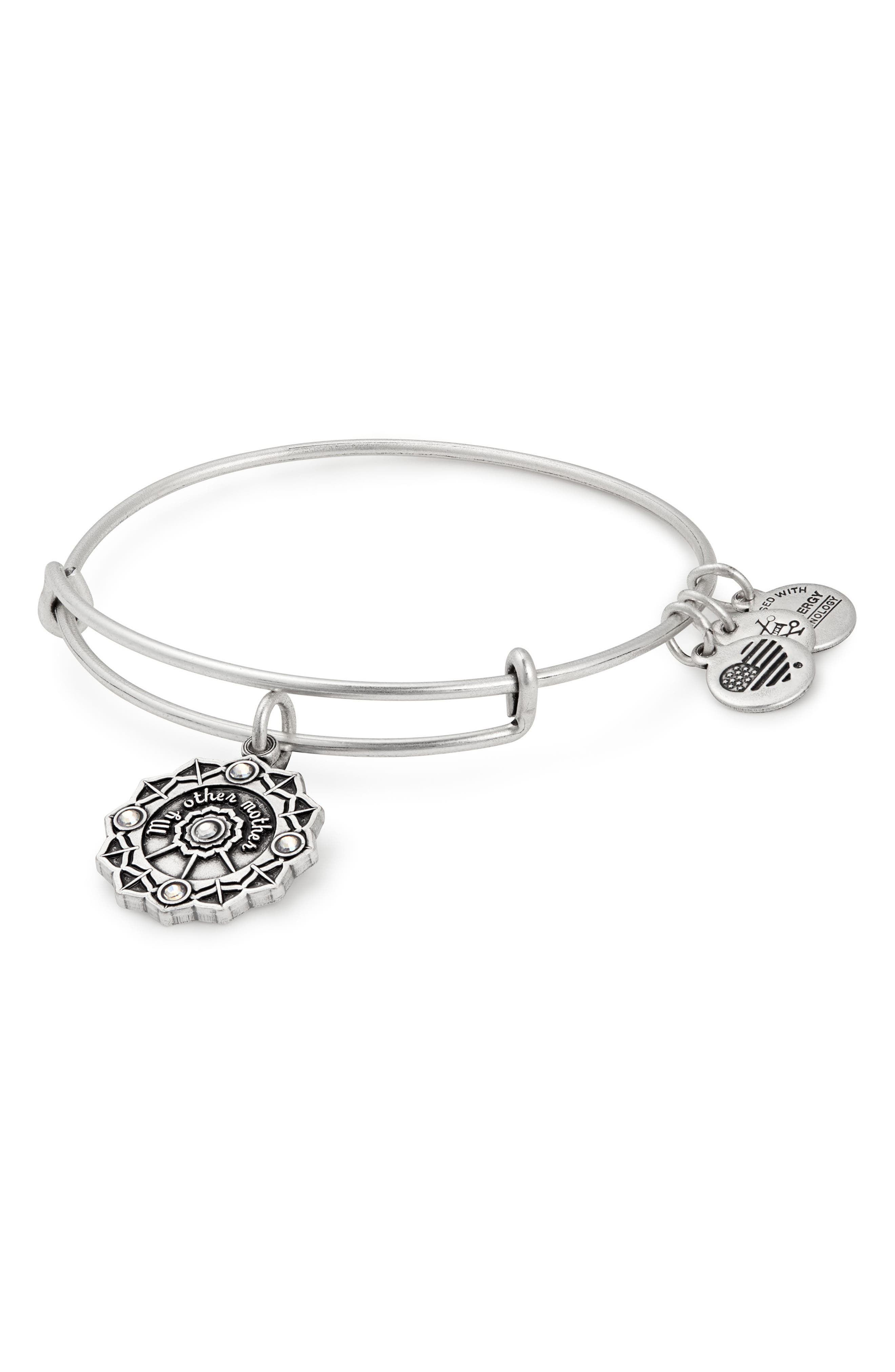 Mother of the Groom Charm Bangle,                             Main thumbnail 1, color,                             040