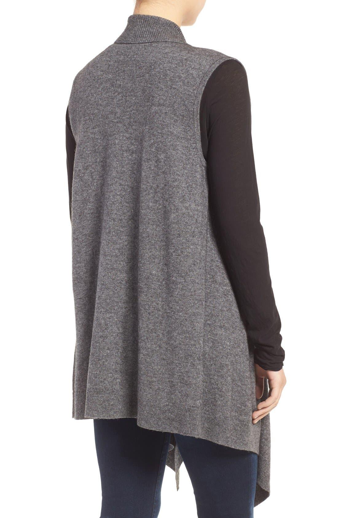 Wool & Cashmere Drape Front Sweater Vest,                             Alternate thumbnail 47, color,