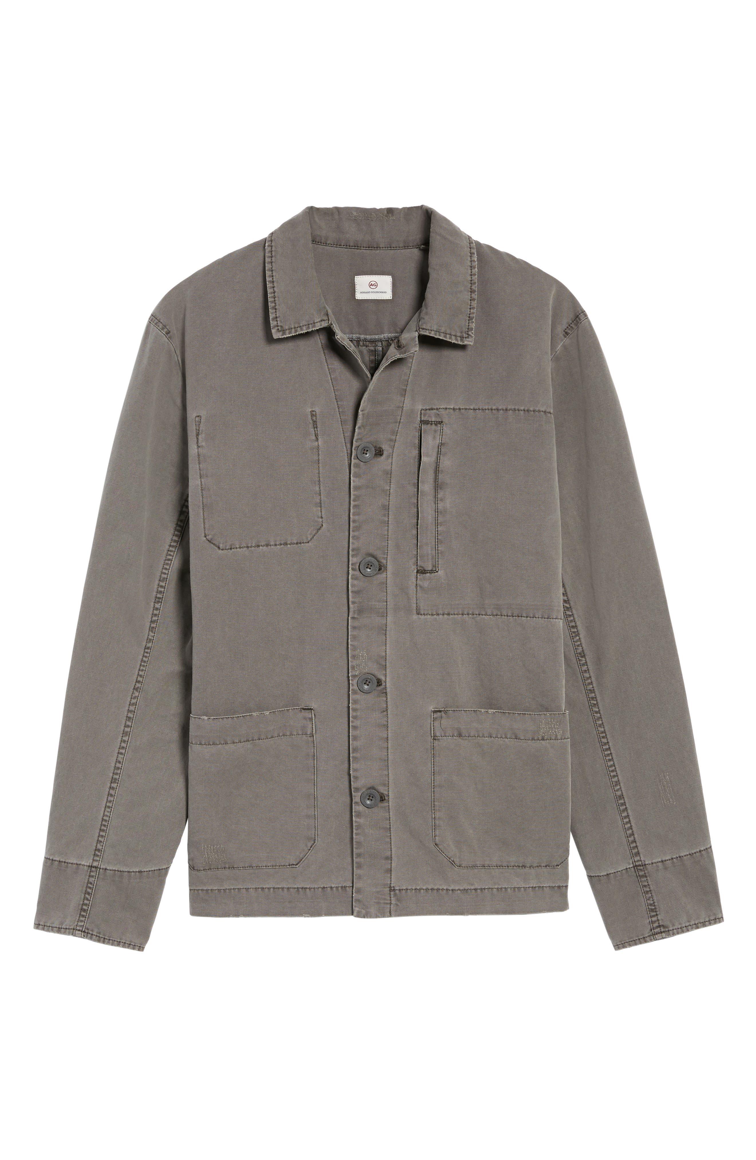 Marlon Canvas Shirt Jacket,                             Alternate thumbnail 5, color,                             035