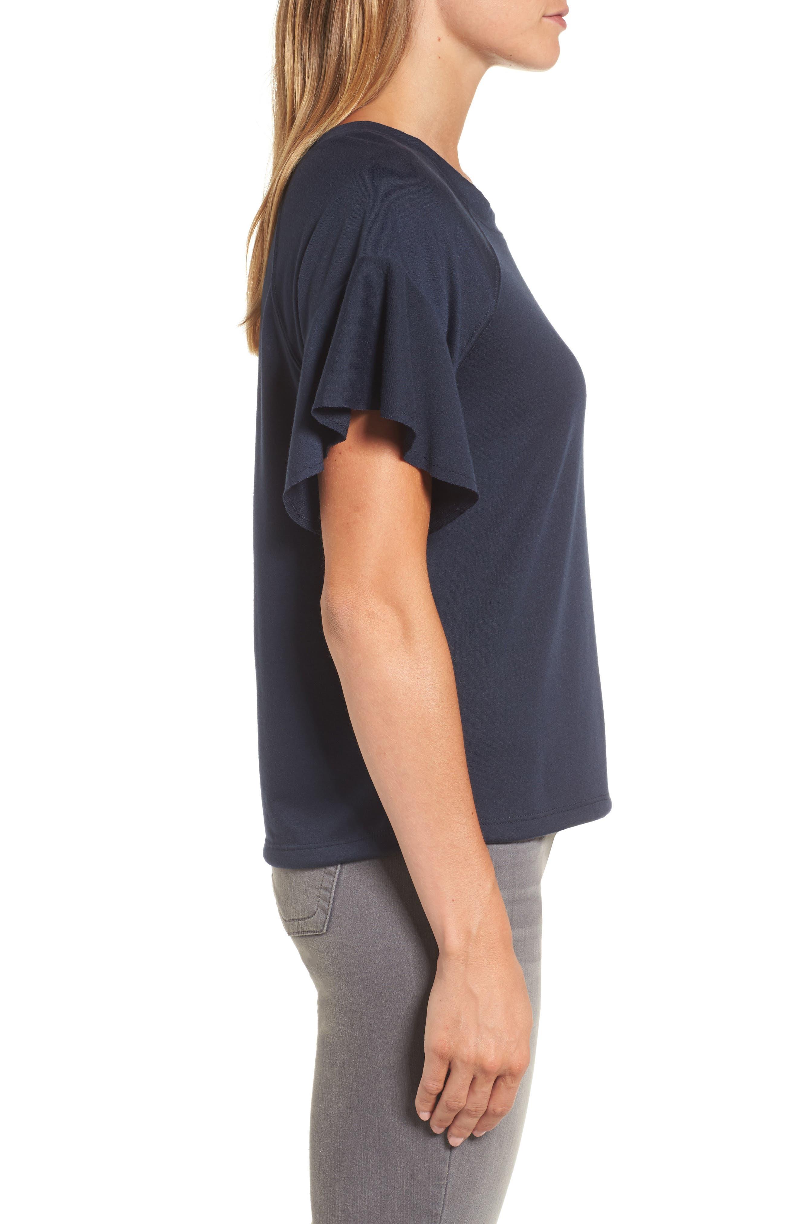Ruffle Sleeve Sweatshirt,                             Alternate thumbnail 11, color,