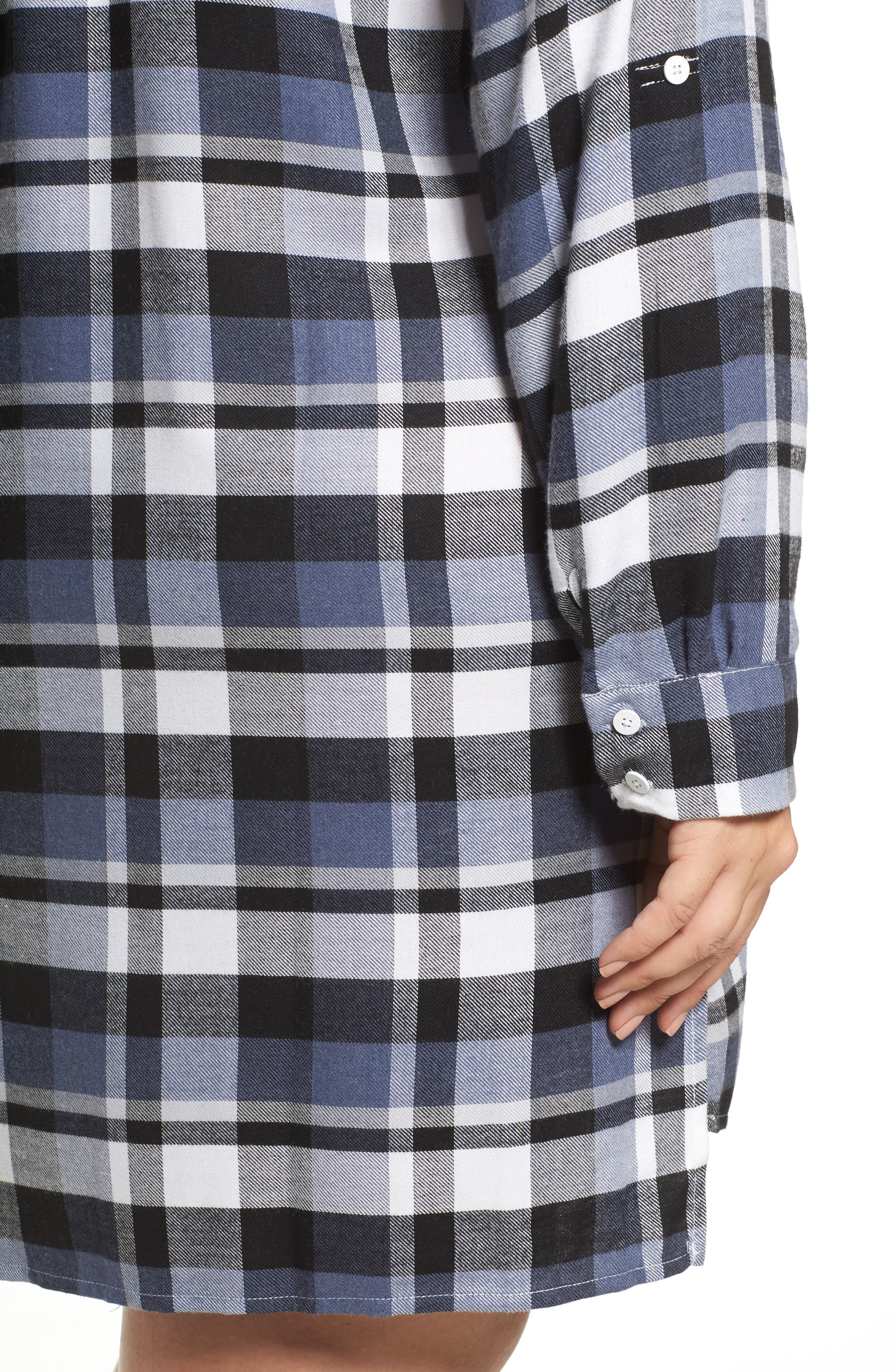 Plaid Sleep Shirt,                             Alternate thumbnail 4, color,                             400