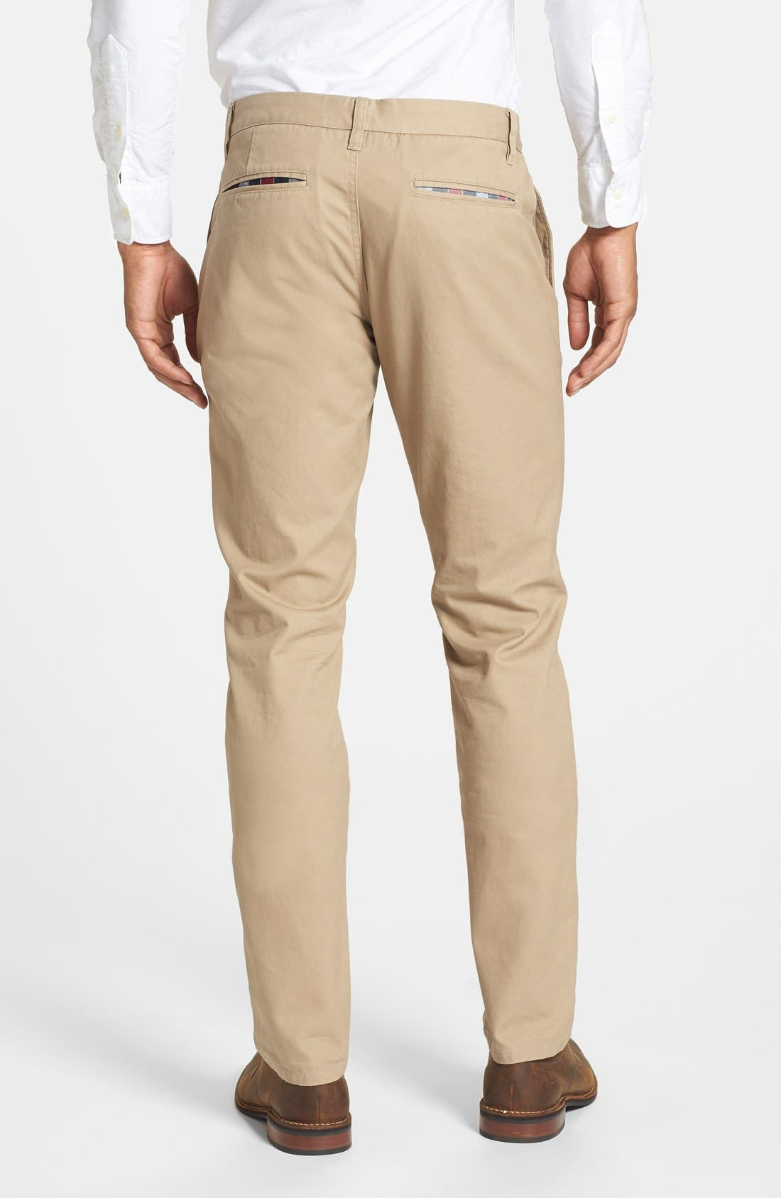 Tailored Fit Washed Chinos,                             Alternate thumbnail 3, color,                             250