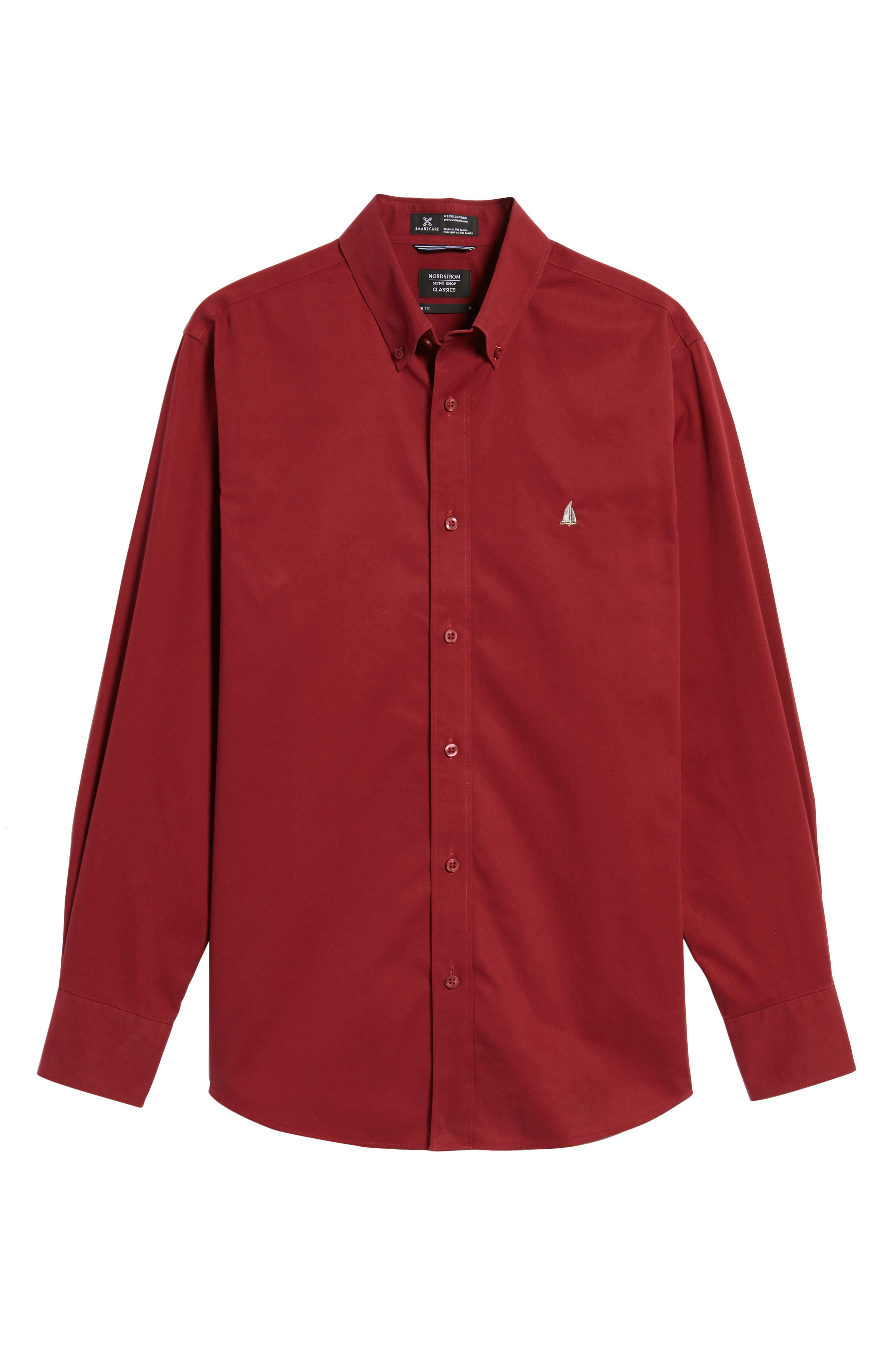 Smartcare<sup>™</sup> Traditional Fit Twill Boat Shirt,                             Alternate thumbnail 178, color,