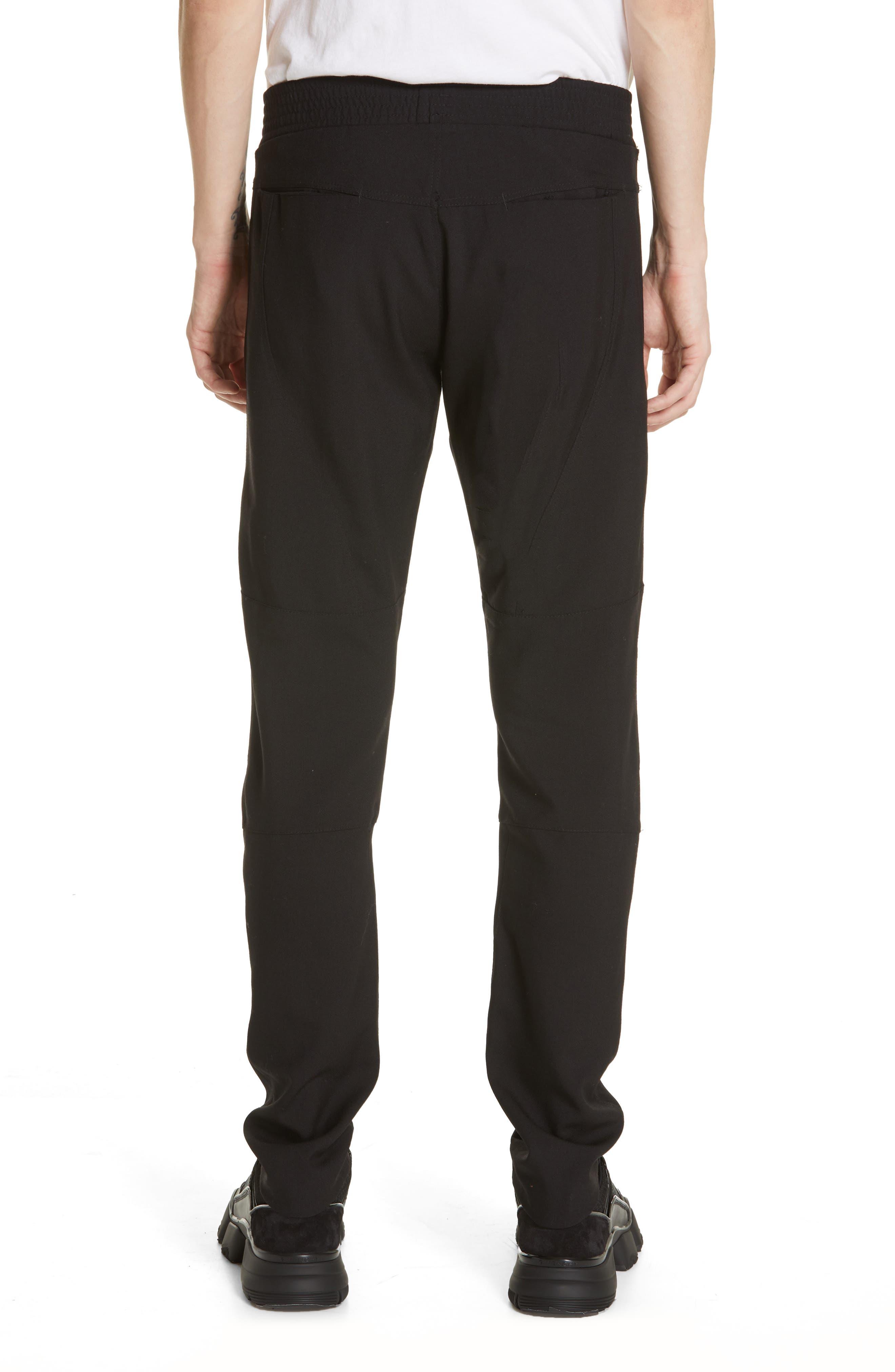 Wool & Mohair Biker Pants,                             Alternate thumbnail 2, color,                             BLACK