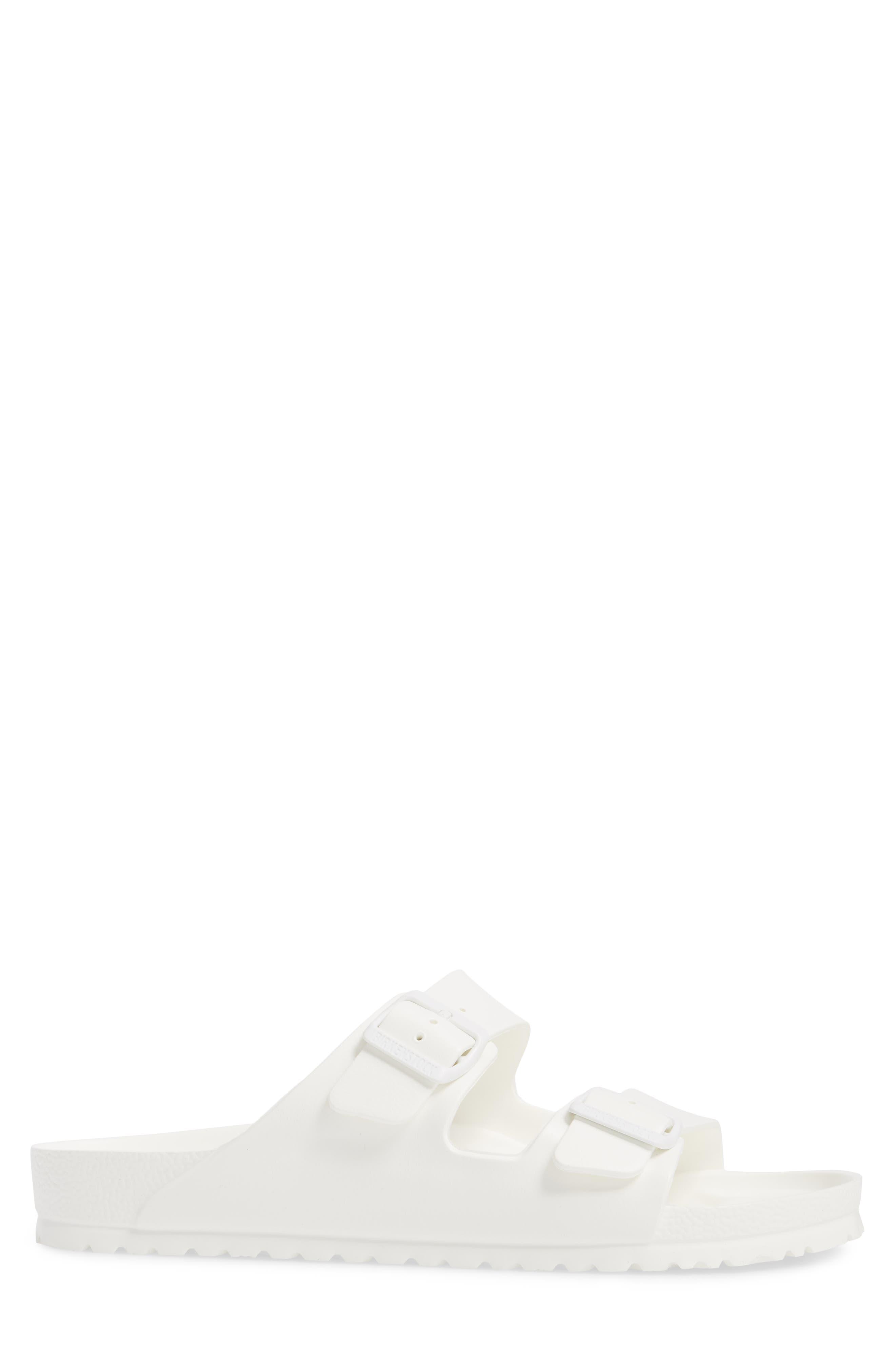 'Essentials - Arizona EVA' Waterproof Slide Sandal,                             Alternate thumbnail 3, color,                             WHITE