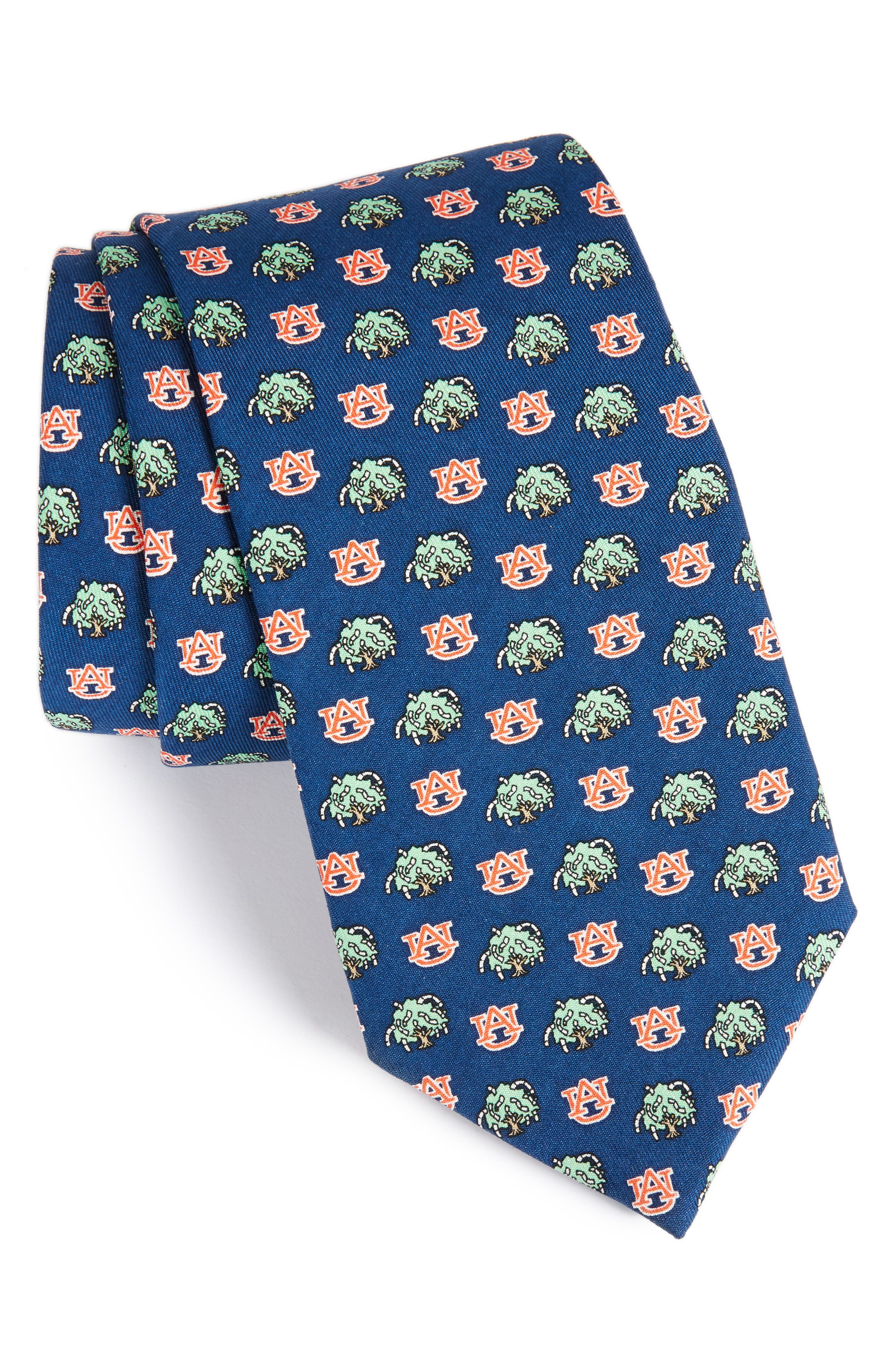 Auburn Tigers Silk Tie,                             Main thumbnail 1, color,