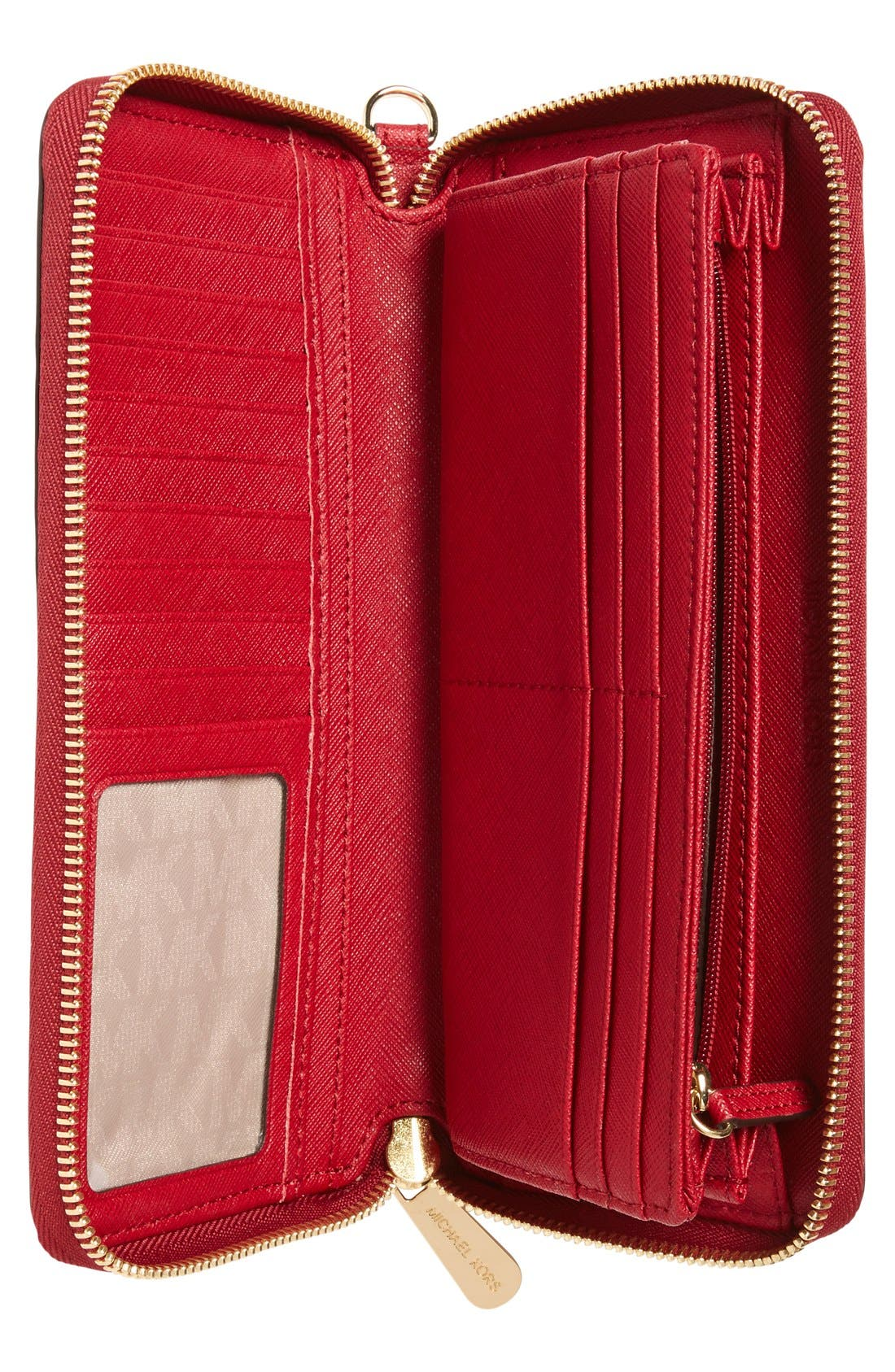 'Jet Set' Leather Travel Wallet,                             Alternate thumbnail 19, color,