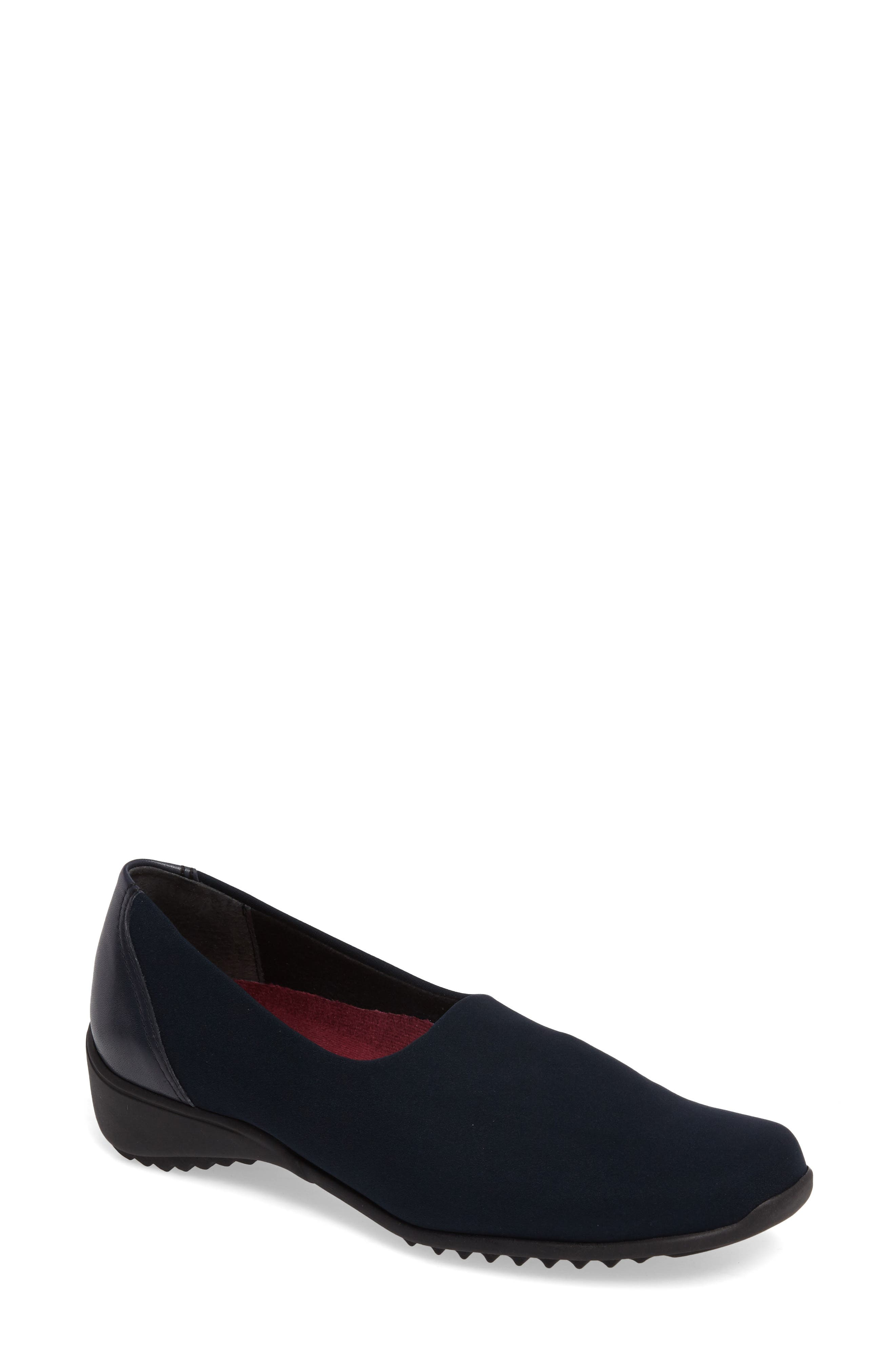 'Traveler' Slip-On,                             Main thumbnail 1, color,                             NAVY STRETCH FABRIC