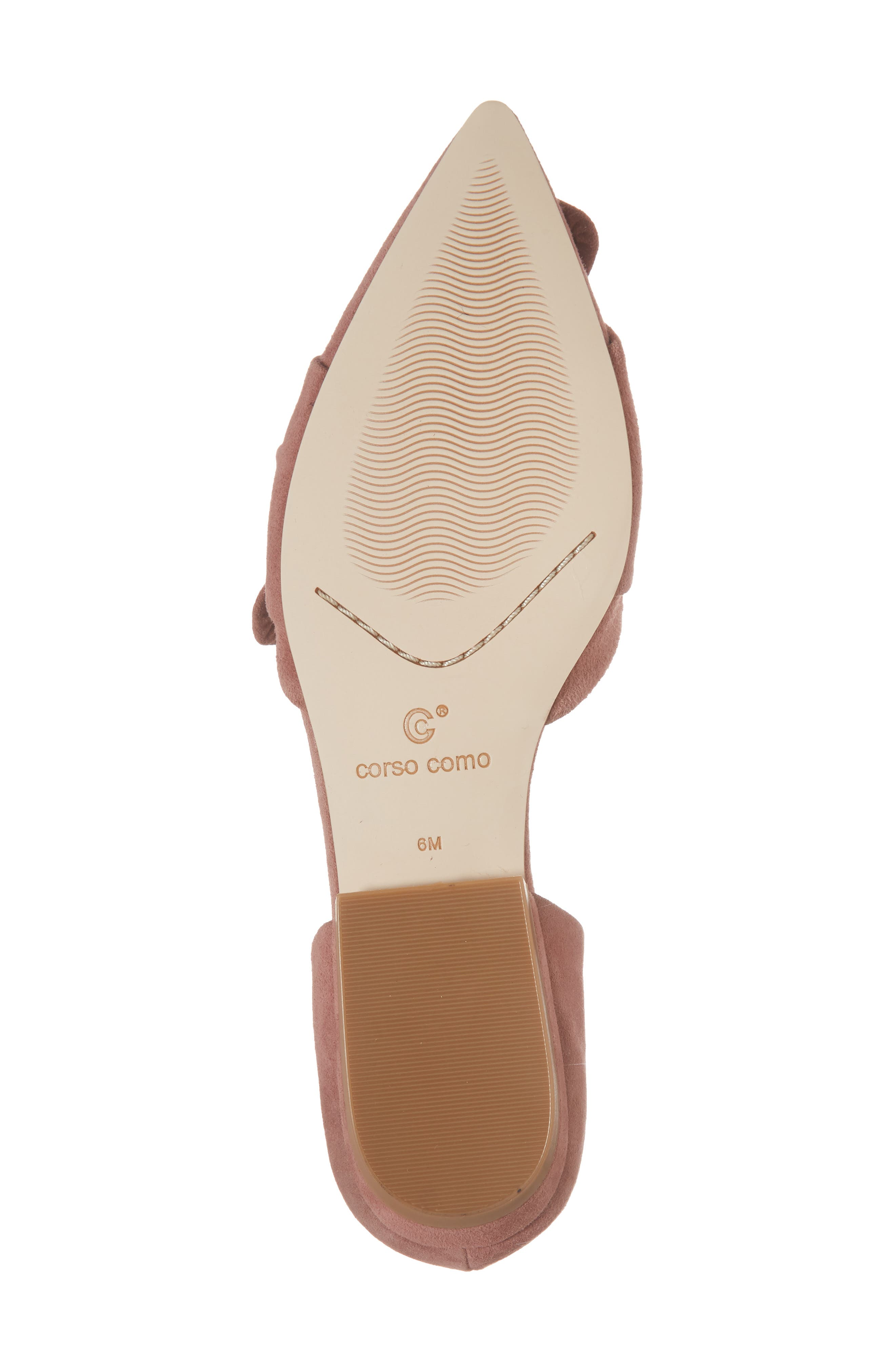 Mollie d'Orsay Flat,                             Alternate thumbnail 6, color,                             OLD ROSE SUEDE