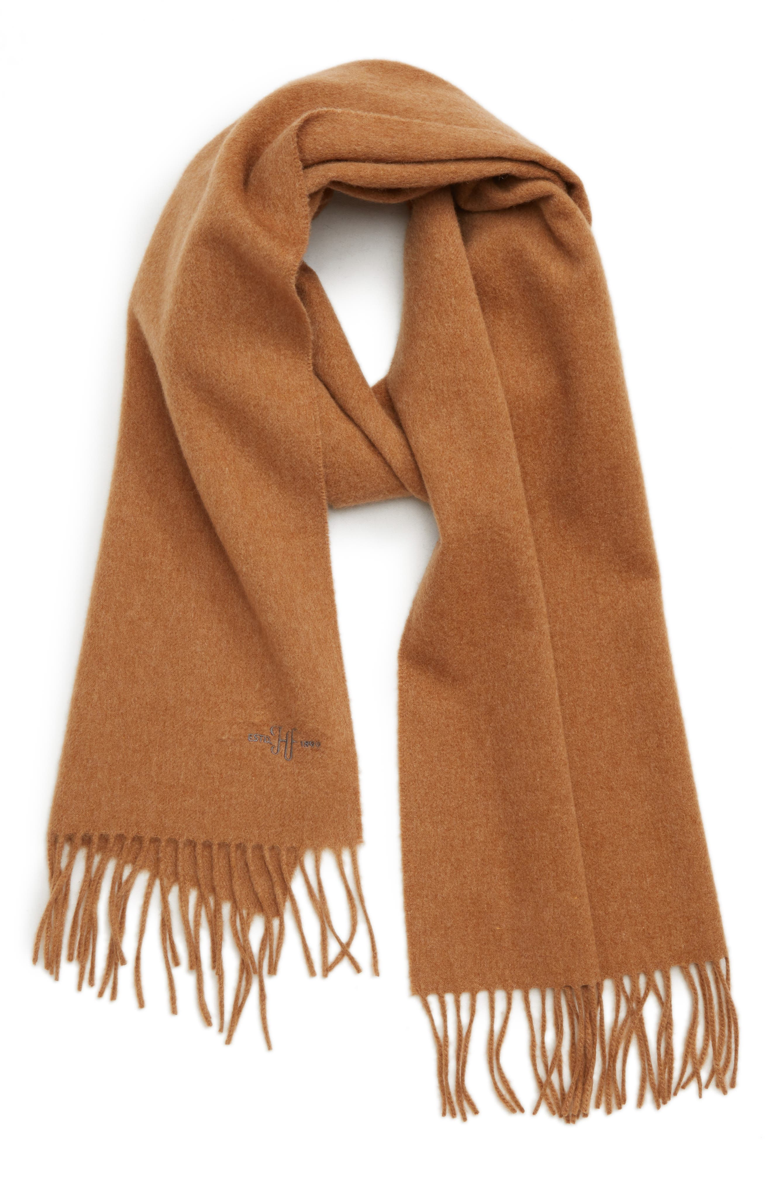 Cashmere Solid Scarf,                             Main thumbnail 1, color,                             VICUNA