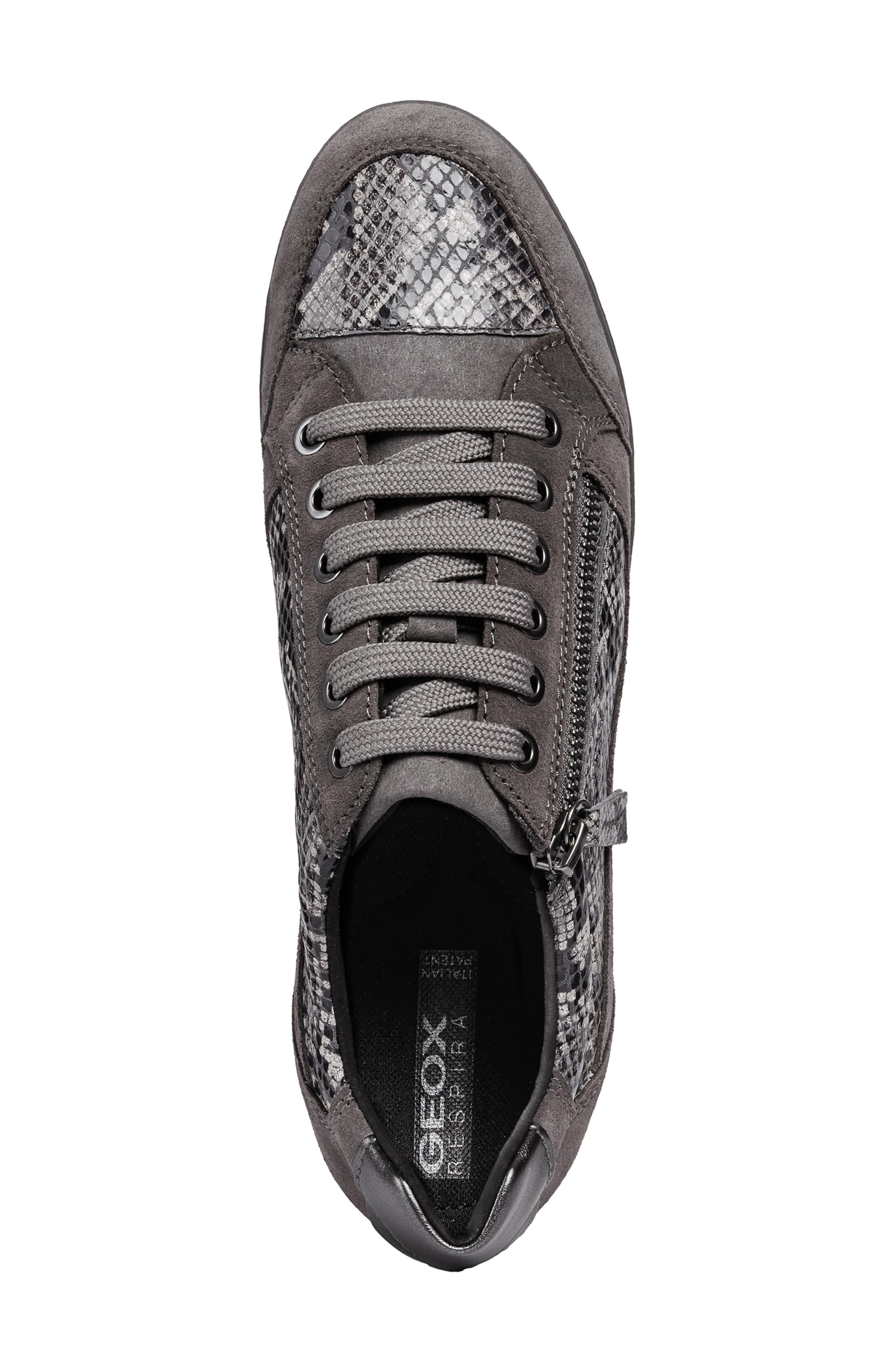 Myria Sneaker,                             Alternate thumbnail 4, color,                             DARK GREY SUEDE