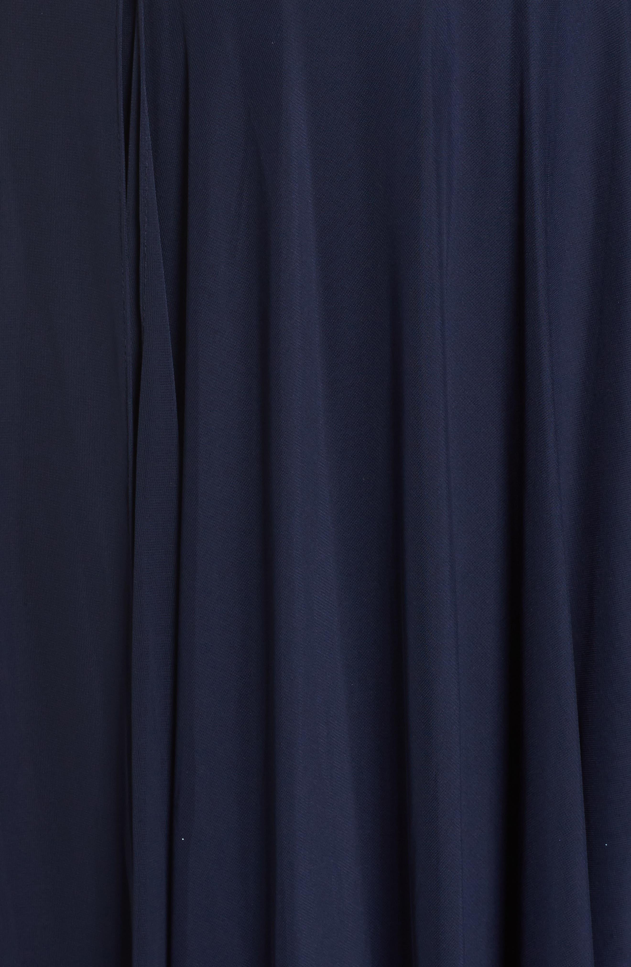 Lace & Mesh Gown,                             Alternate thumbnail 5, color,