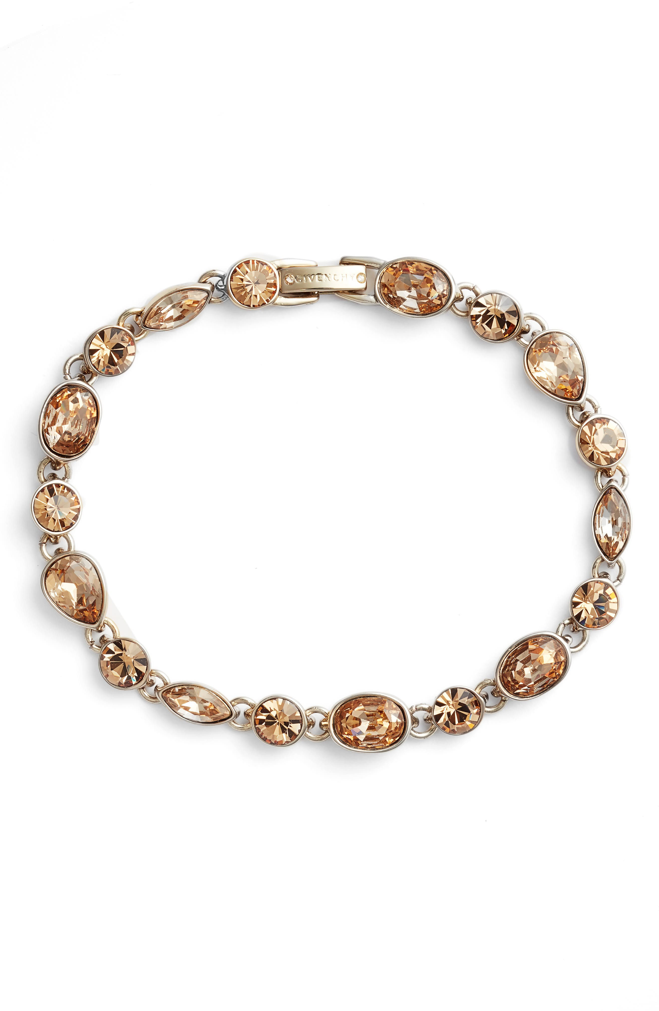 Crystal Bracelet,                             Main thumbnail 1, color,                             GOLD