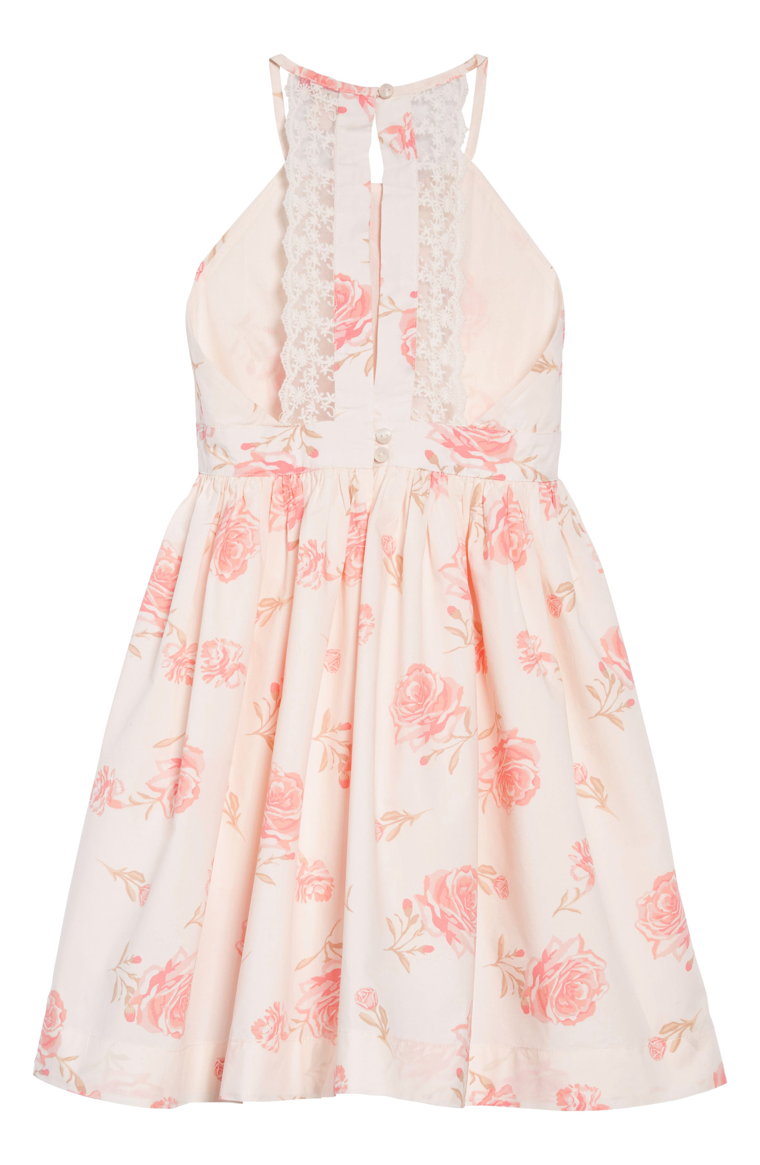 RUBY & BLOOM,                             Lovely Lace Dress,                             Alternate thumbnail 2, color,                             IVORY EGRET ELEGANT FLORAL